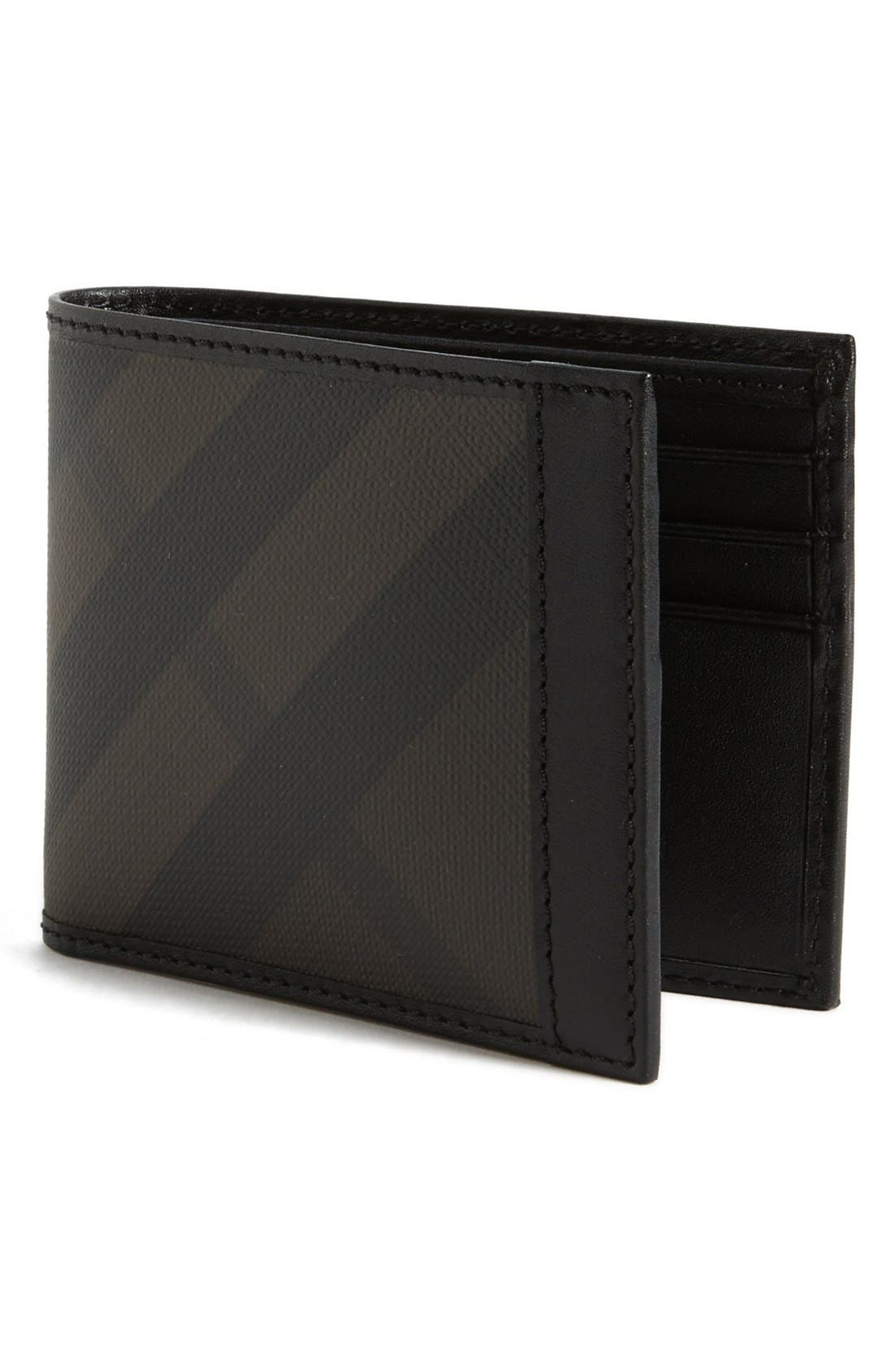 Main Image - Burberry Check Print Wallet