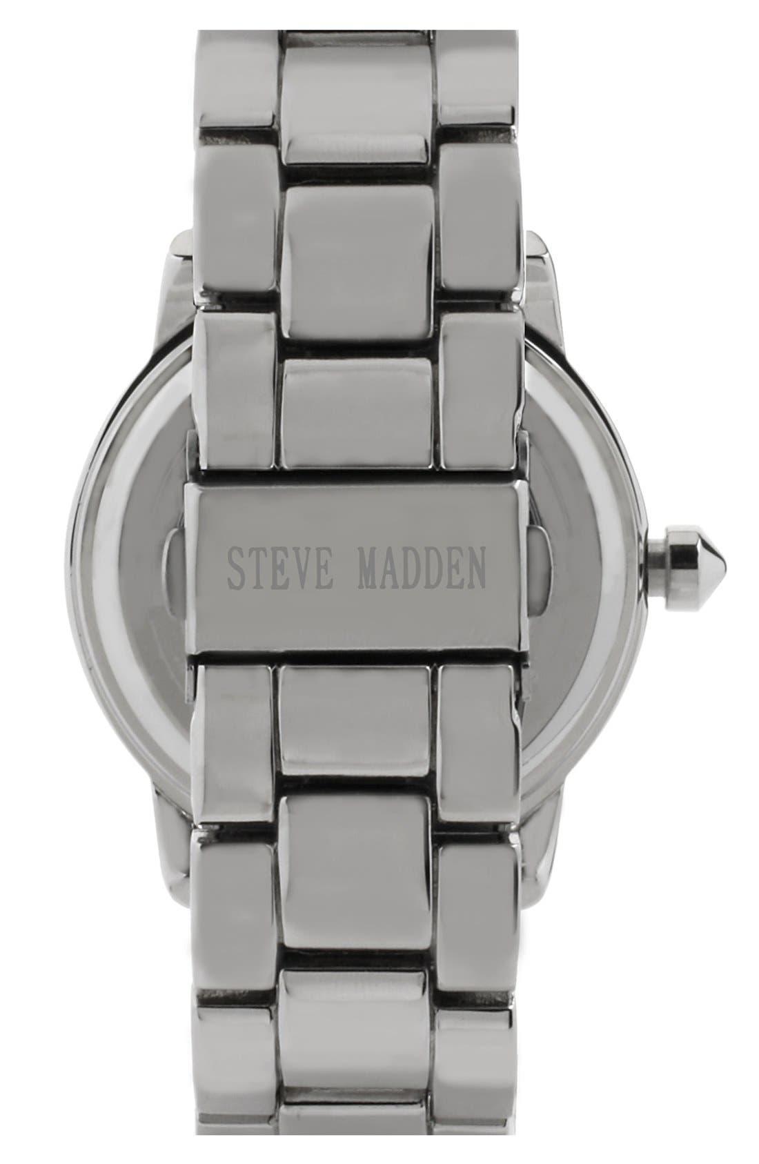 Alternate Image 2  - Steve Madden Round Dial Bracelet Watch, 40mm