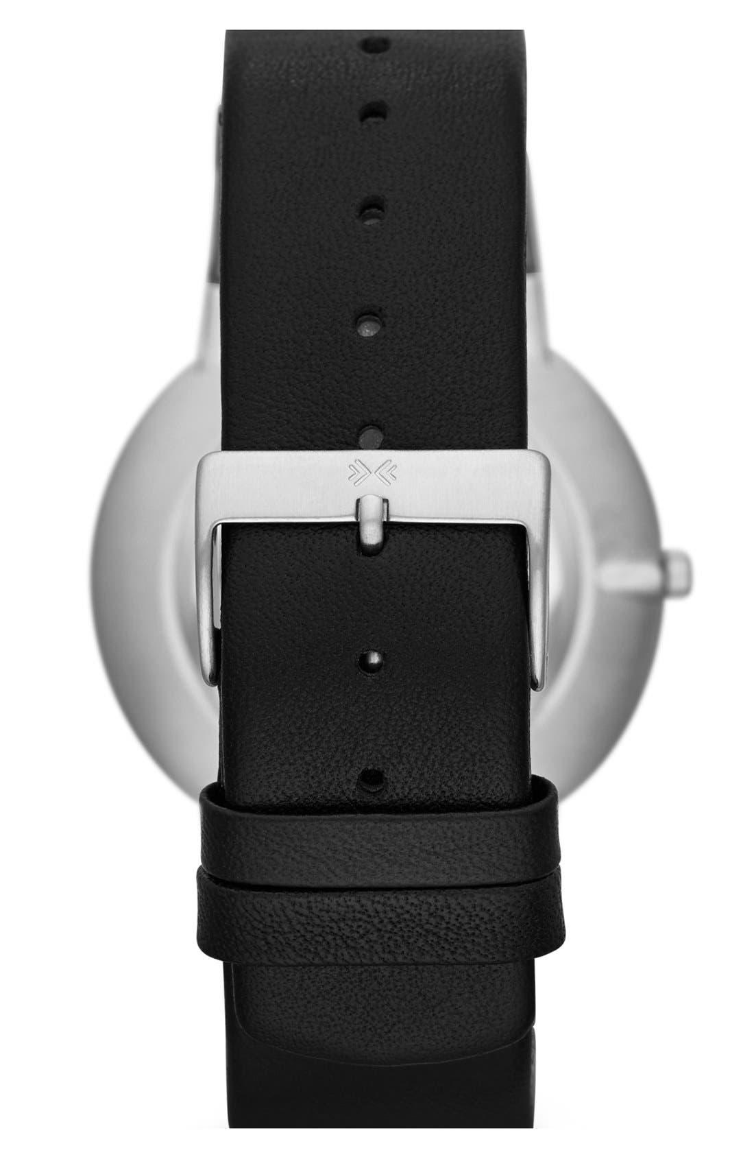 Alternate Image 2  - Skagen 'Ancher' Round Leather Strap Watch, 39mm