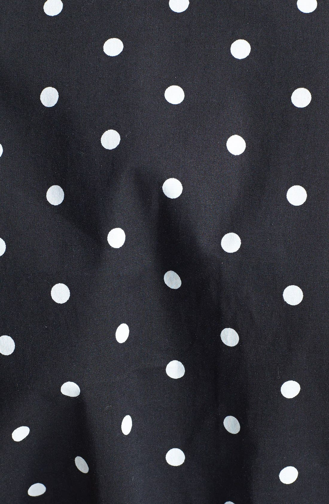 Alternate Image 3  - City Chic Polka Dot Cotton Sateen Fit & Flare Dress (Plus Size)