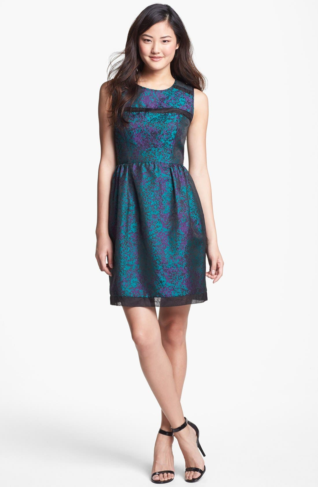 Main Image - Ivy & Blu Brocade Fit & Flare Dress (Petite)