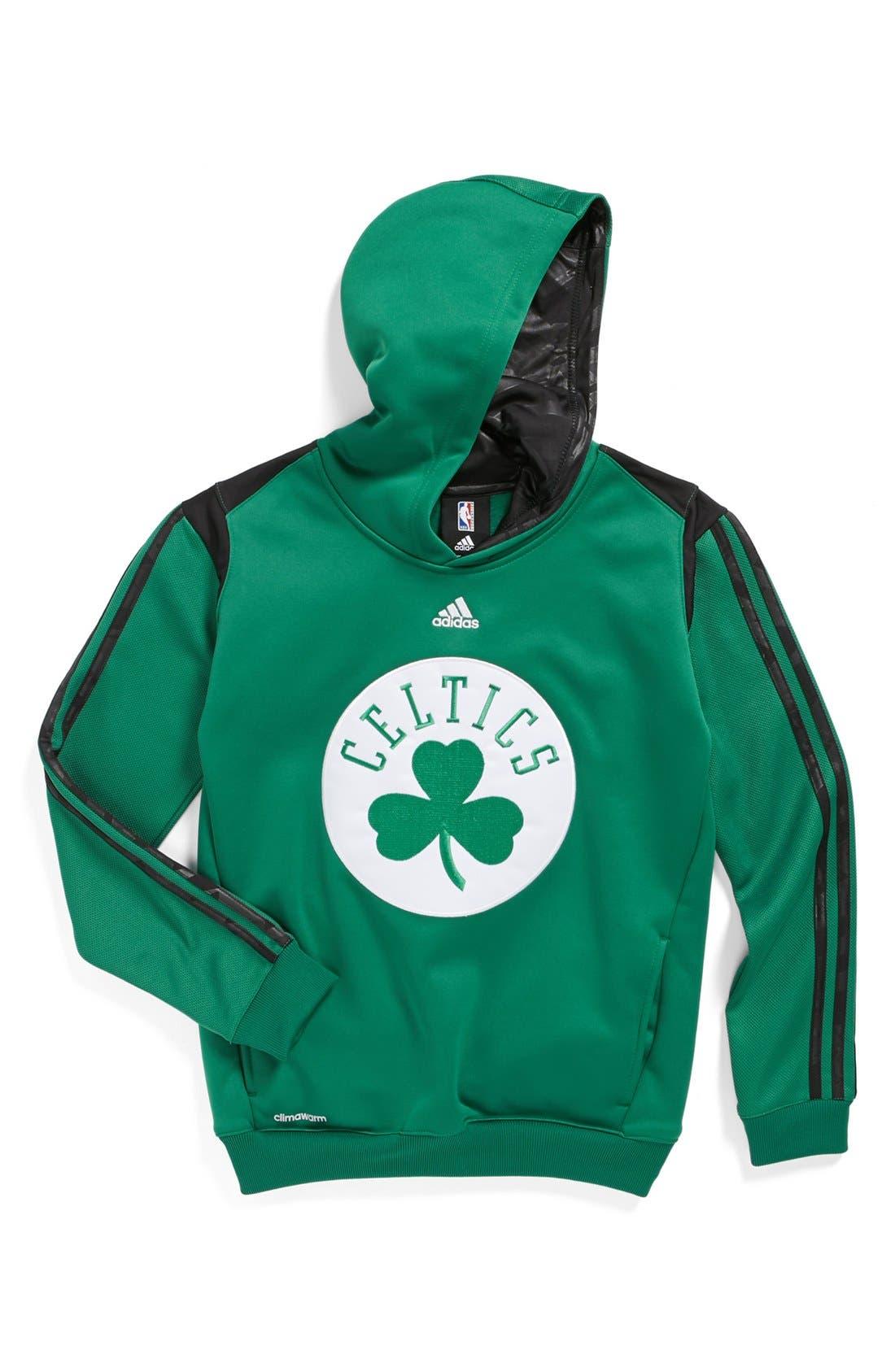 Alternate Image 1 Selected - adidas 'Boston Celtics - On Court' Hoodie (Big Boys)