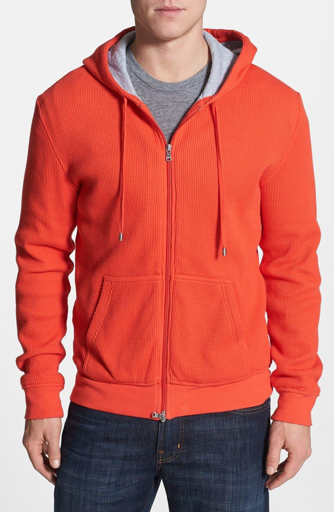 Alternate Image 1 Selected - Michael Kors Thermal Knit Zip Hoodie