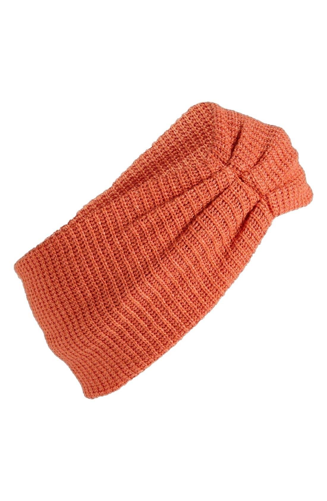 Main Image - BP. Ruched Knit Headband (Juniors)