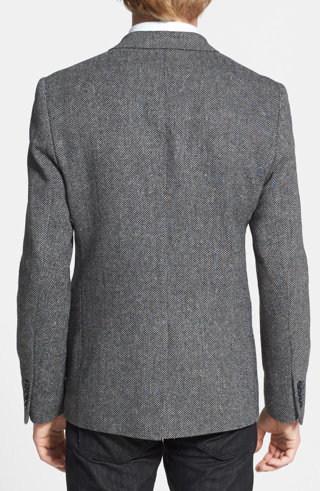 Alternate Image 2  - Topman Herringbone Sportcoat