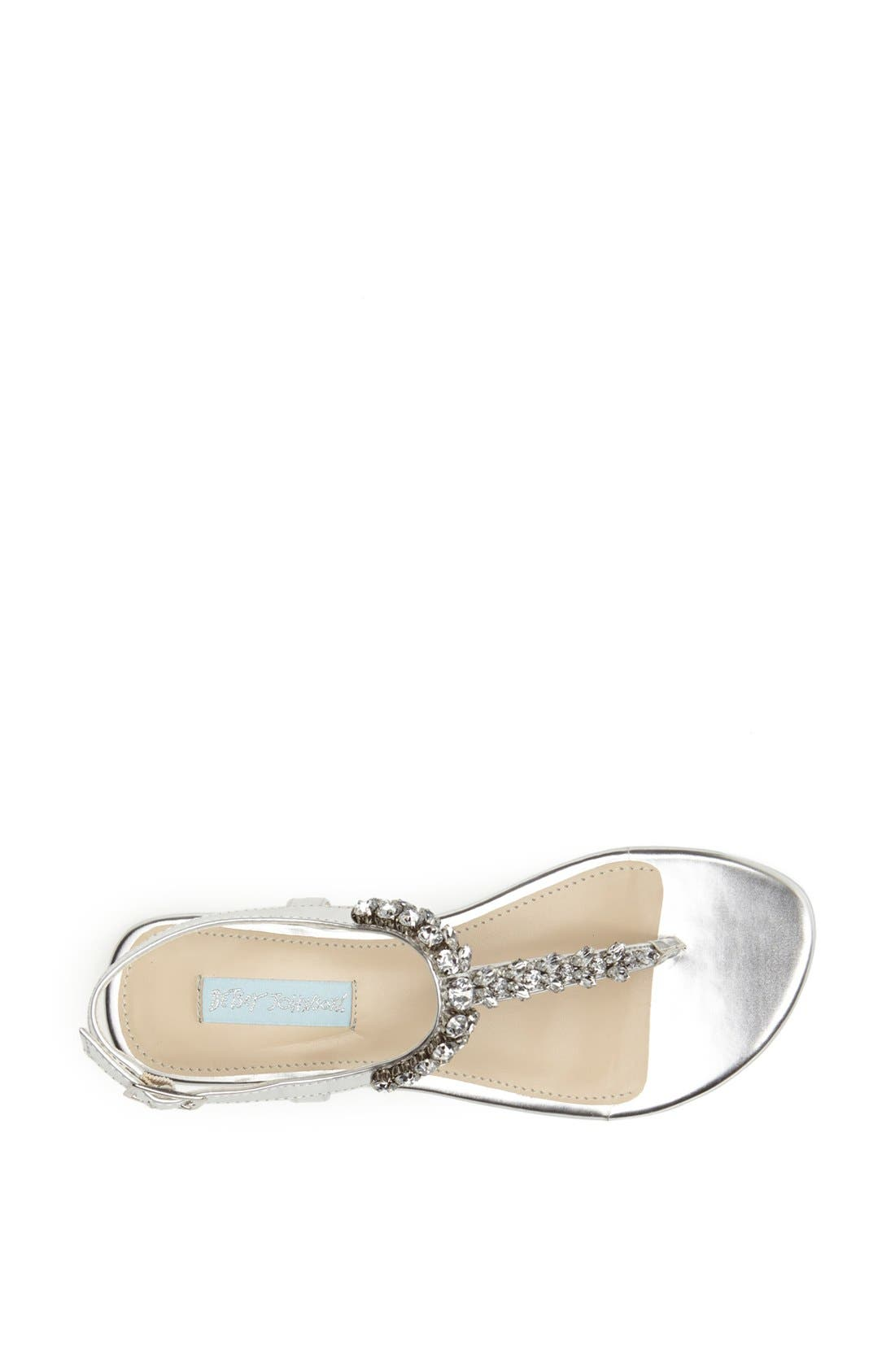 Alternate Image 3  - Blue by Betsey Johnson 'Spark' Crystal Embellished Thong Sandal
