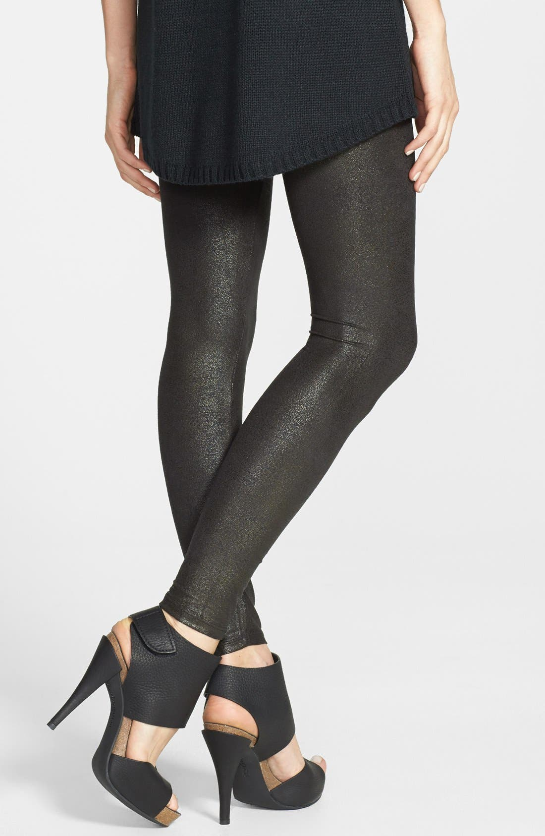 Alternate Image 2  - Yummie by Heather Thomson Faux Leather Shaper Leggings