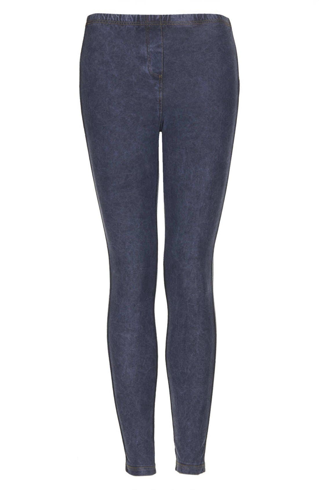 Alternate Image 3  - Topshop Denim Leggings