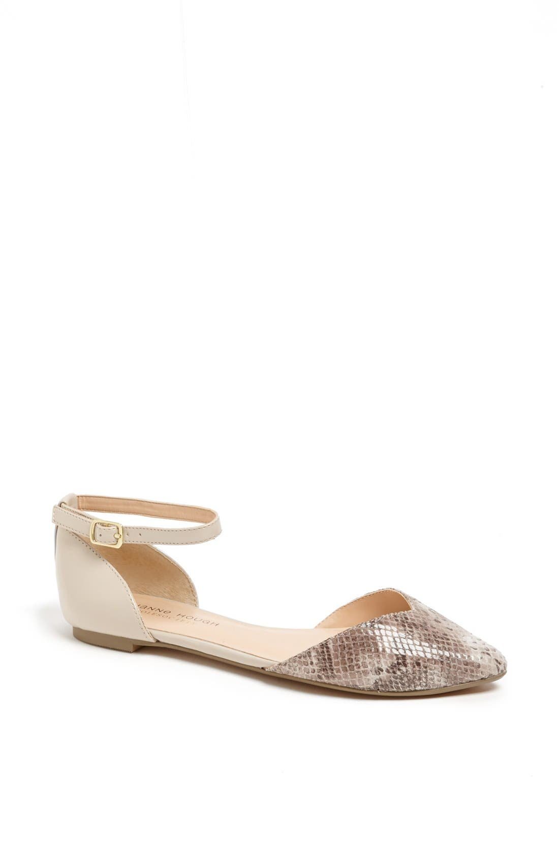 Main Image - Sole Society 'Hadley' Ankle Strap Pointy Toe Flat