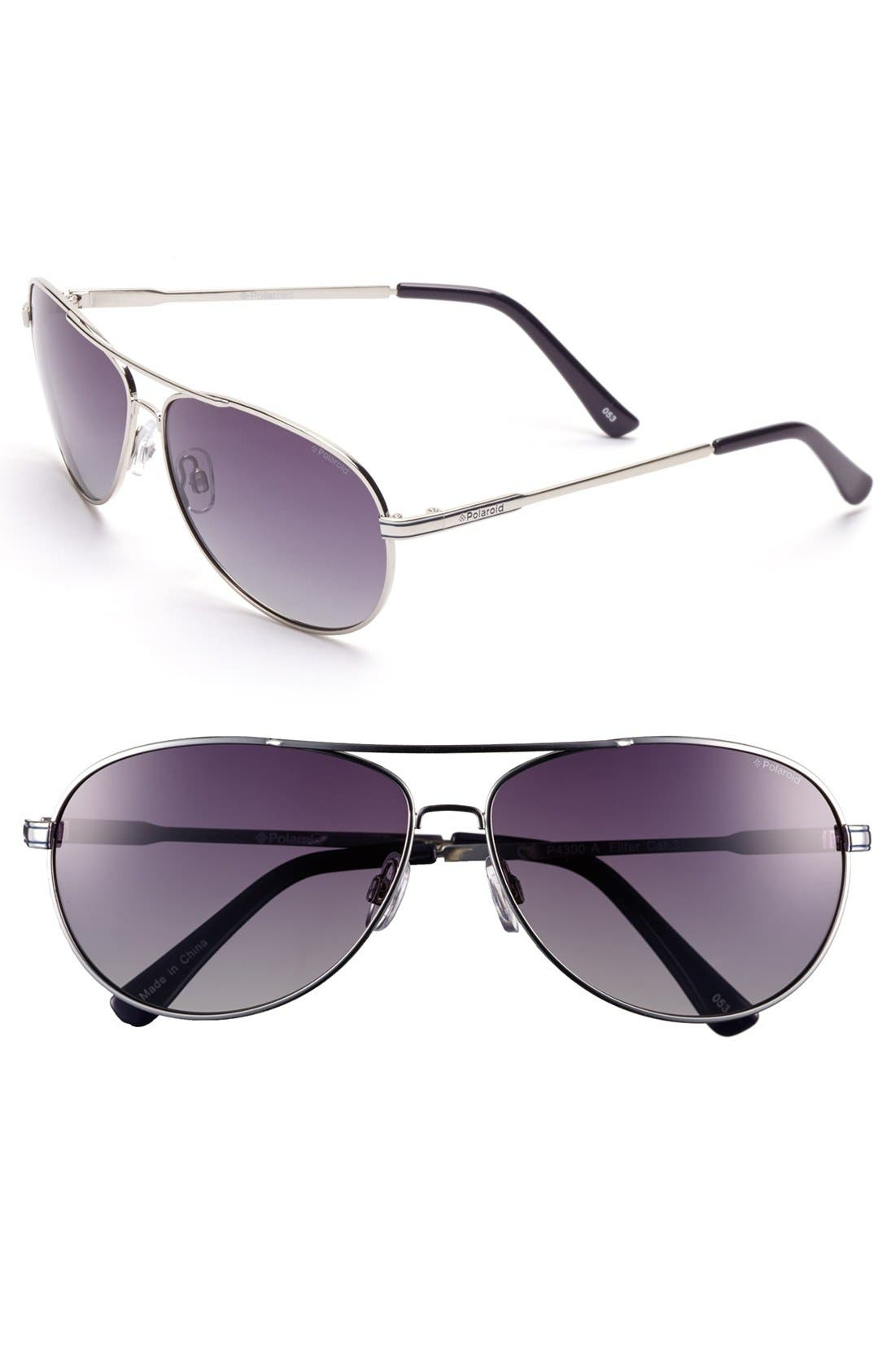 Main Image - Polaroid Eyewear 62mm Polarized Aviator Sunglasses