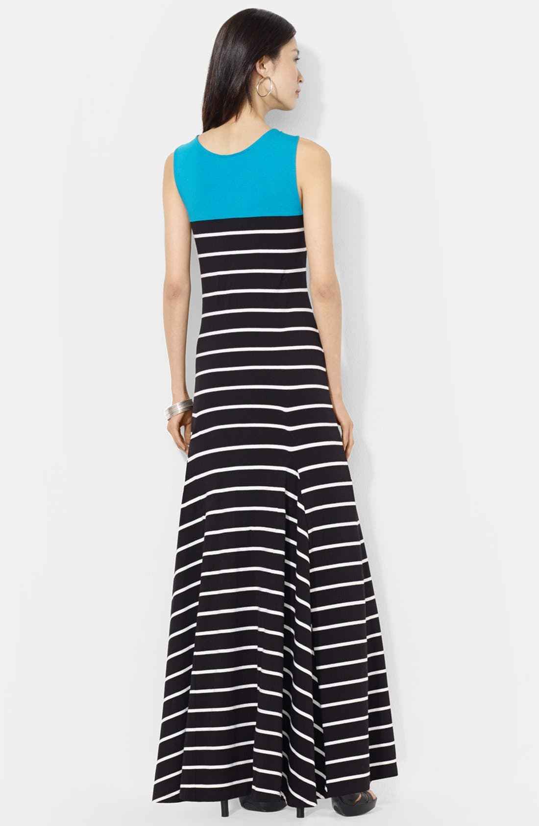 Alternate Image 3  - Lauren Ralph Lauren Colorblock Stripe Jersey Maxi dress