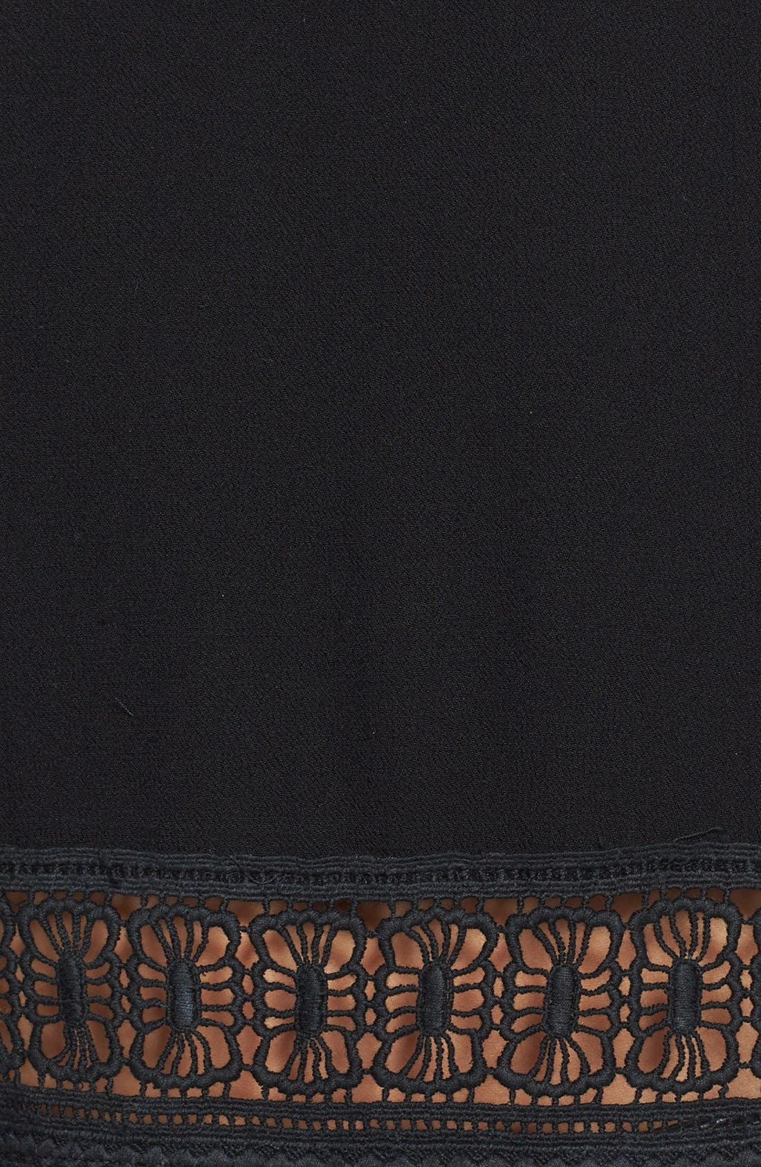 Alternate Image 3  - ASTR Crocheted Chain Link Hem Tank