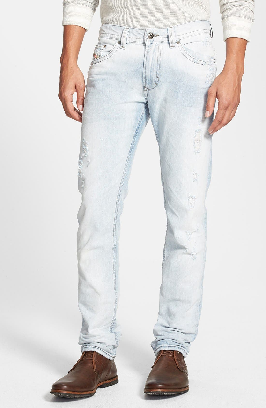 Alternate Image 1 Selected - DIESEL® 'Thavar' Skinny Fit Jeans (0825M)