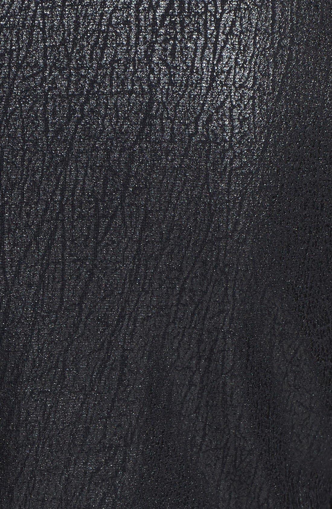 Alternate Image 3  - Frenchi® Coated Knit Moto Jacket (Juniors)
