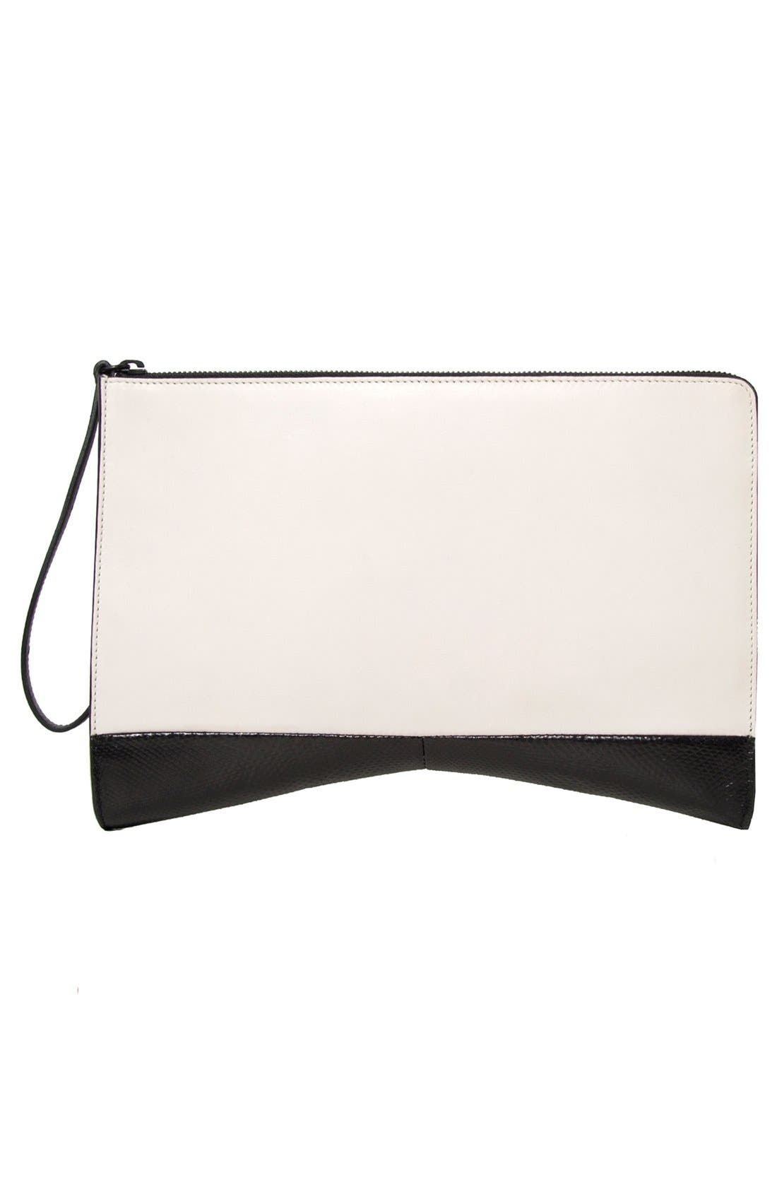 Alternate Image 2  - Narciso Rodriguez 'Boomerang' Genuine Python & Leather Clutch