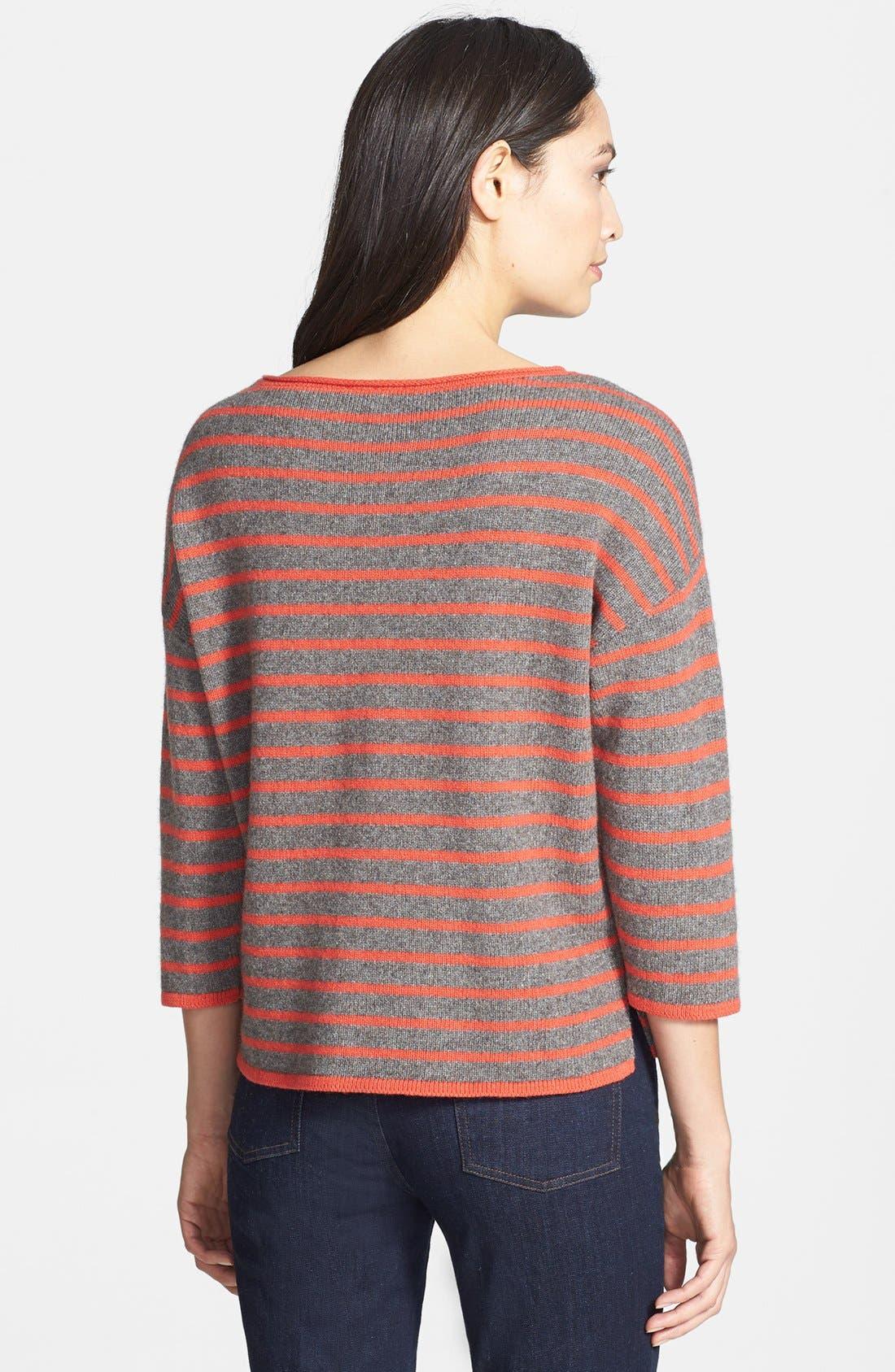 Alternate Image 2  - Eileen Fisher Bateau Neck Boxy Sweater (Regular & Petite)