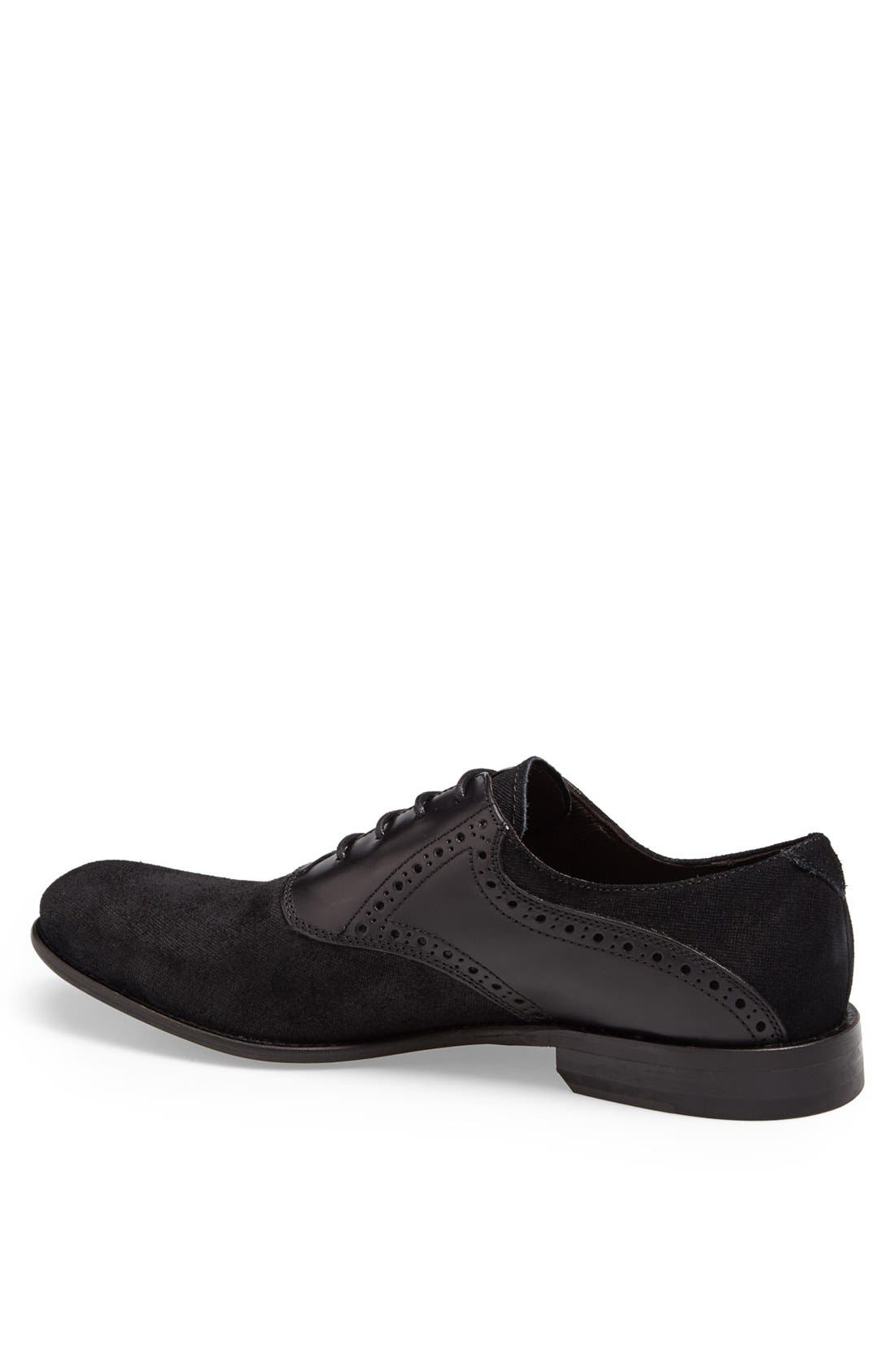 Alternate Image 2  - John Varvatos Star USA 'Sid Buck' Laceless Saddle Shoe