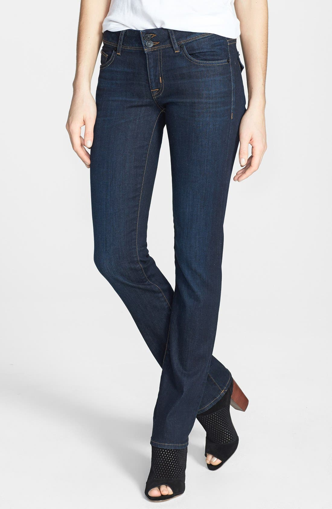 Alternate Image 1 Selected - Hudson Jeans 'Ginny' Straight Leg Jeans (London Calling)
