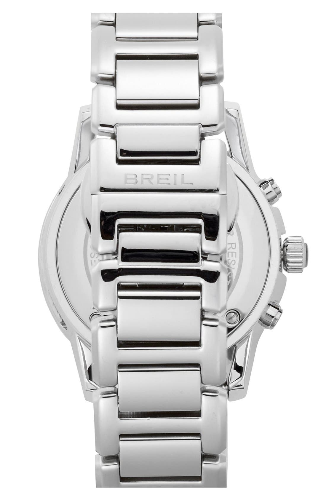 Alternate Image 3  - Breil 'Orchestra' Crystal Bezel Chronograph Bracelet Watch, 37mm
