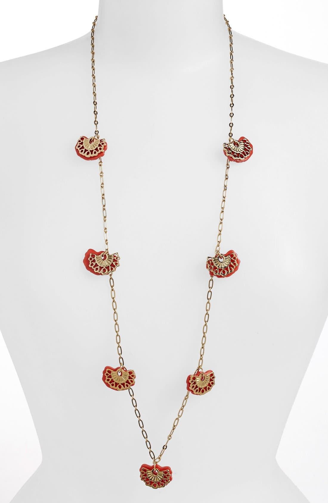 Main Image - Tory Burch 'Madura' Long Charm Necklace