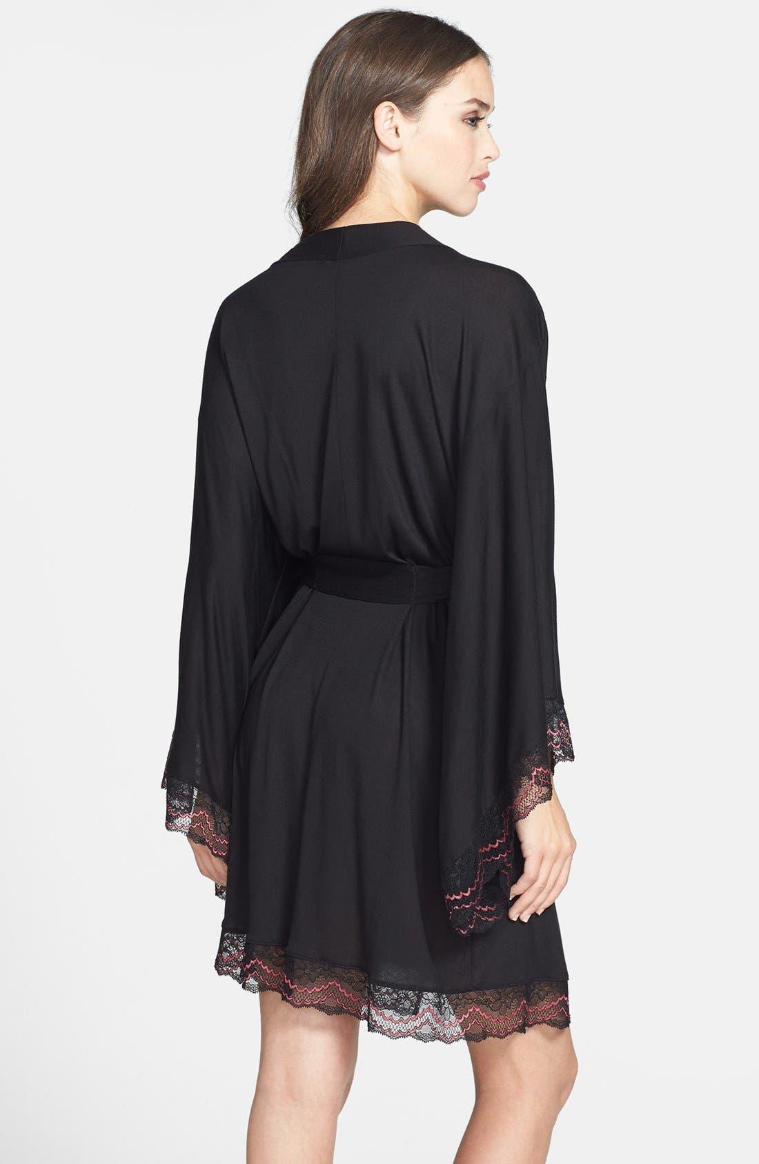 Alternate Image 2  - Eberjey 'Mae' Lace Kimono Robe