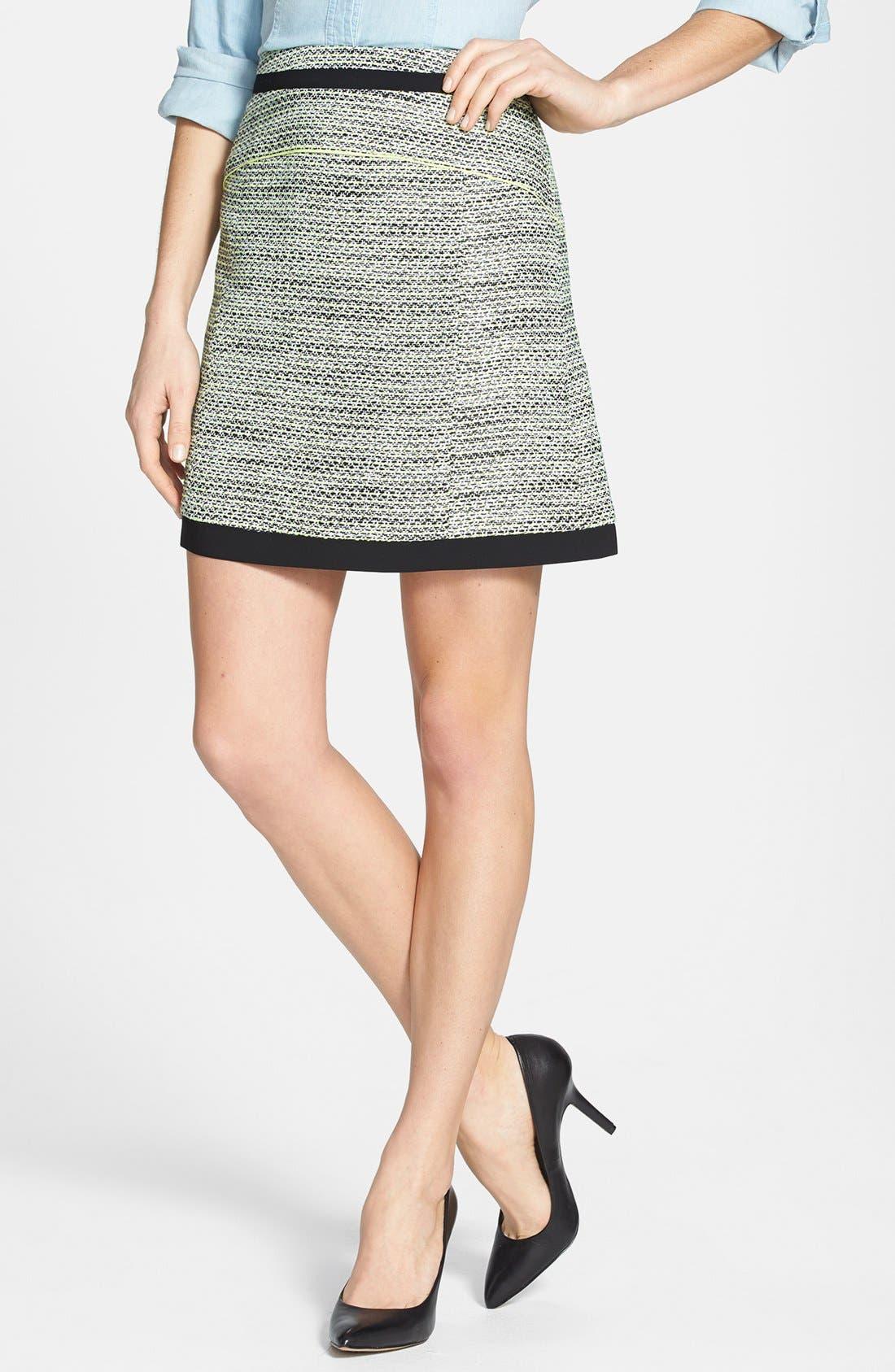 Alternate Image 1 Selected - Halogen® 'Exotic Tweed' A-Line Skirt