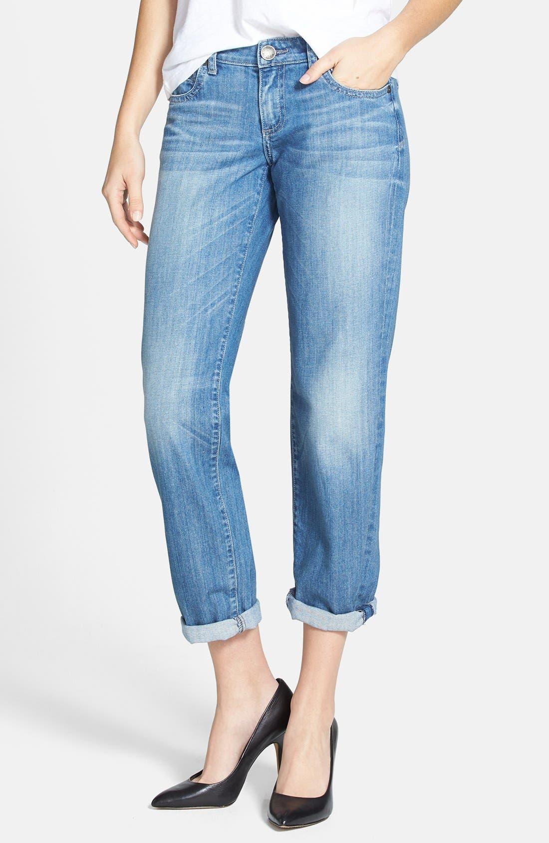 Main Image - KUT from the Kloth 'Catherine' Slim Boyfriend Jeans (Exceptional) (Regular & Petite)