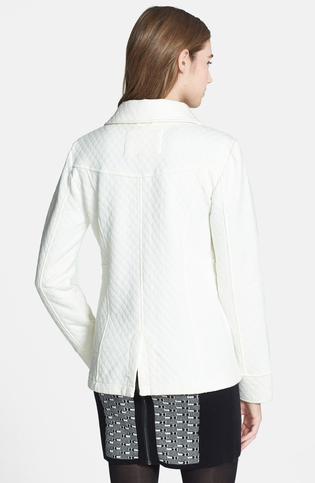 Alternate Image 2  - Sugarfly Quilted Knit Coat