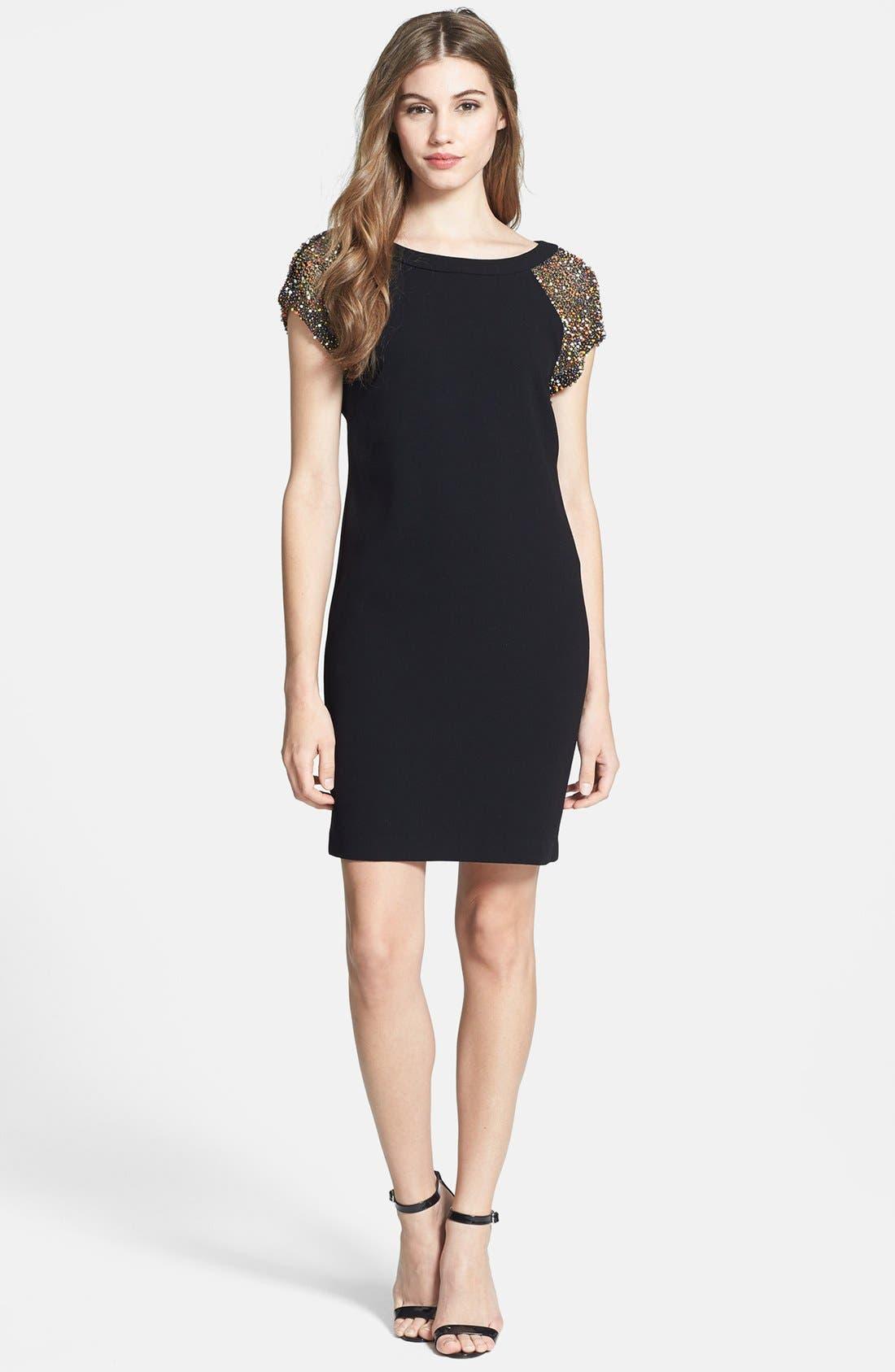 Main Image - Trina Turk 'Nettle' Embellished Crepe Dress
