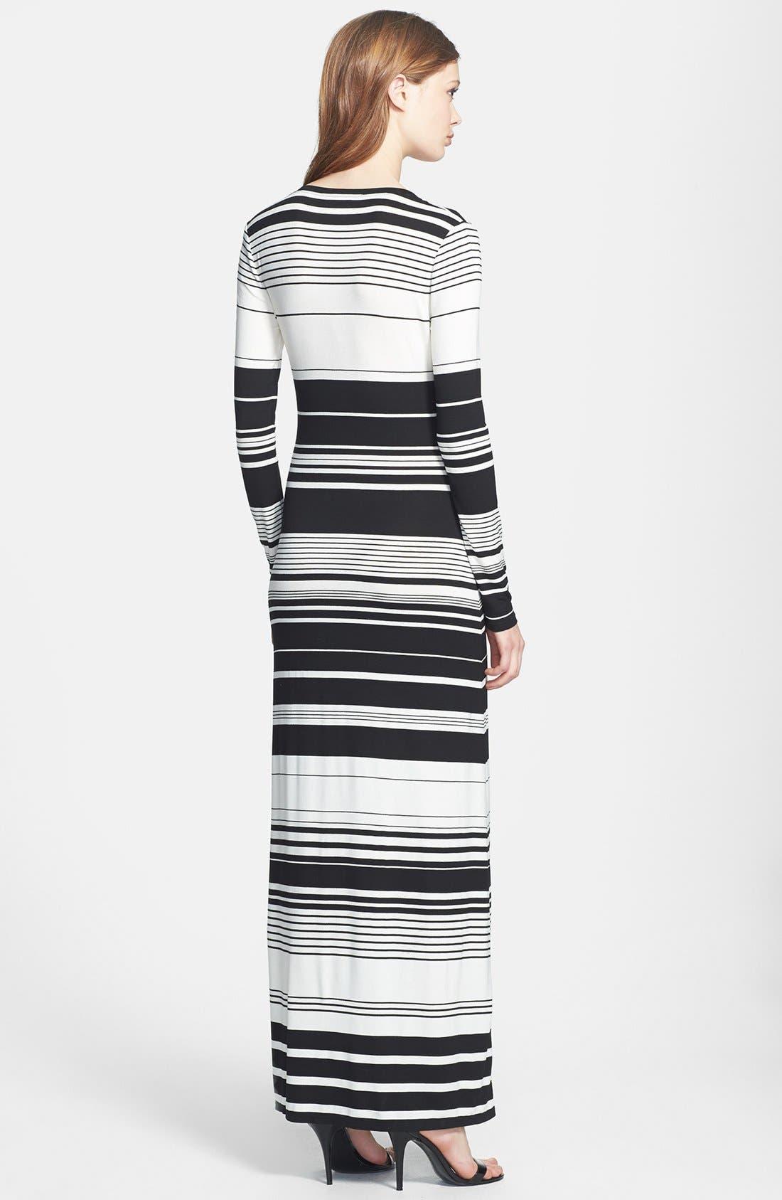Alternate Image 2  - BCBGMAXAZRIA Stripe Jersey Maxi Dress