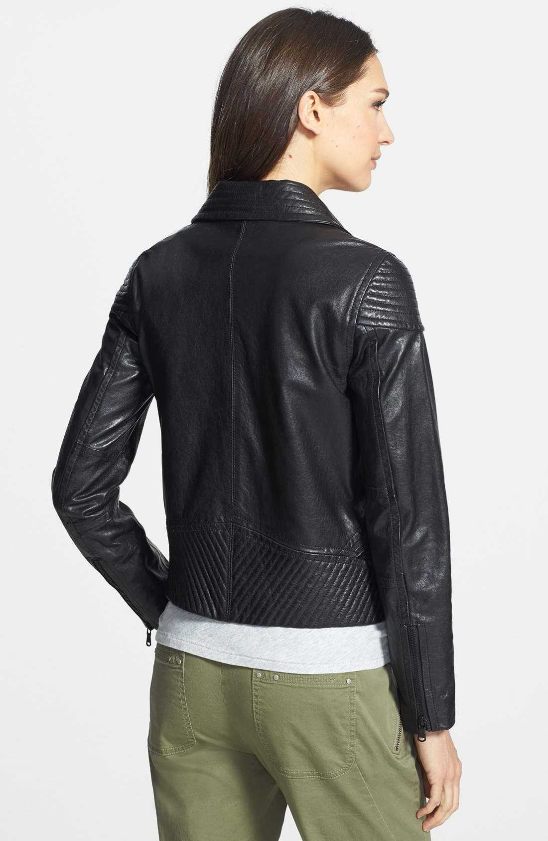 Alternate Image 2  - MARC BY MARC JACOBS 'Karlie' Leather Moto Jacket