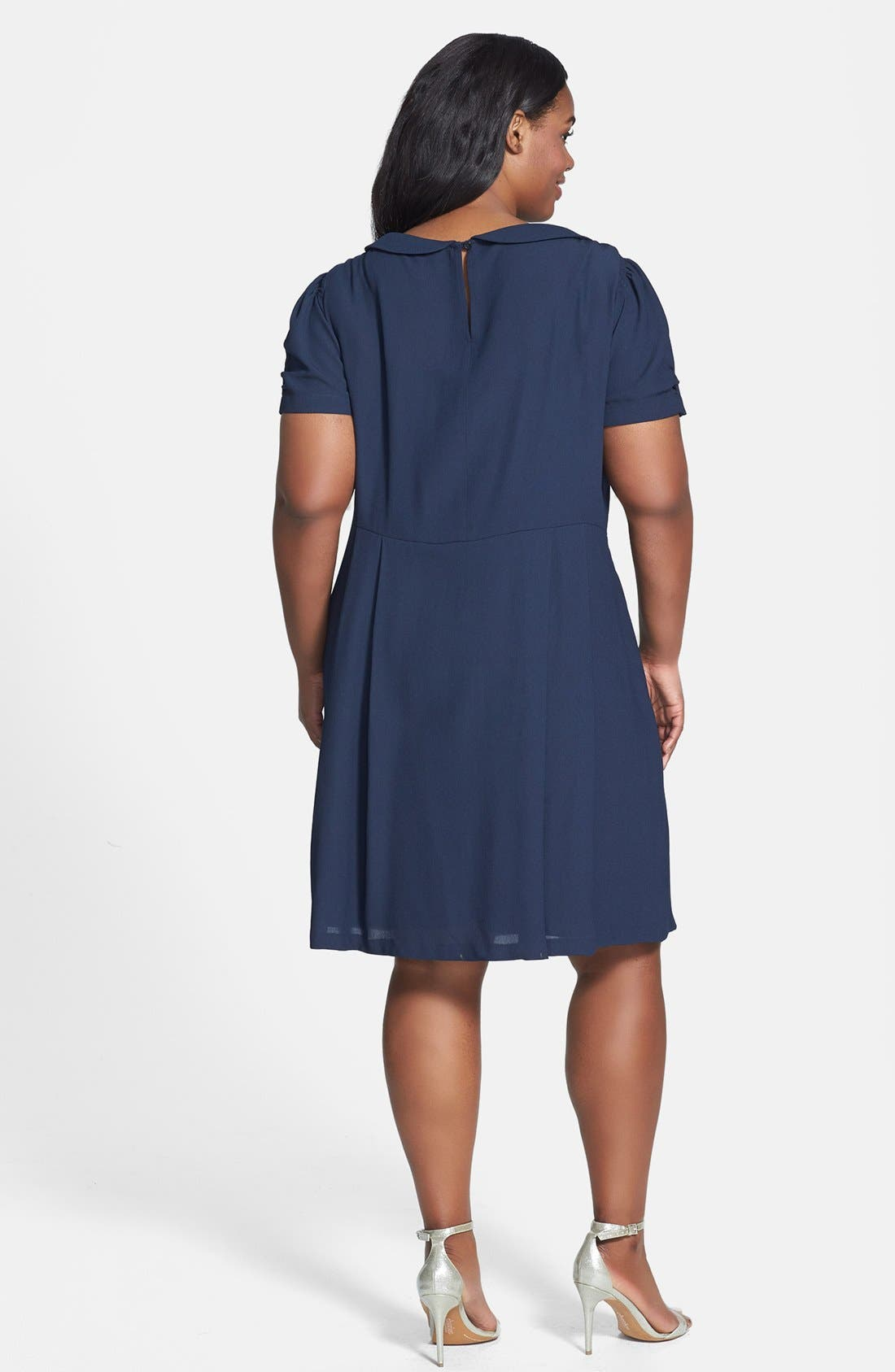 Alternate Image 2  - ABS by Allen Schwartz Peter Pan Collar Dress (Plus Size)