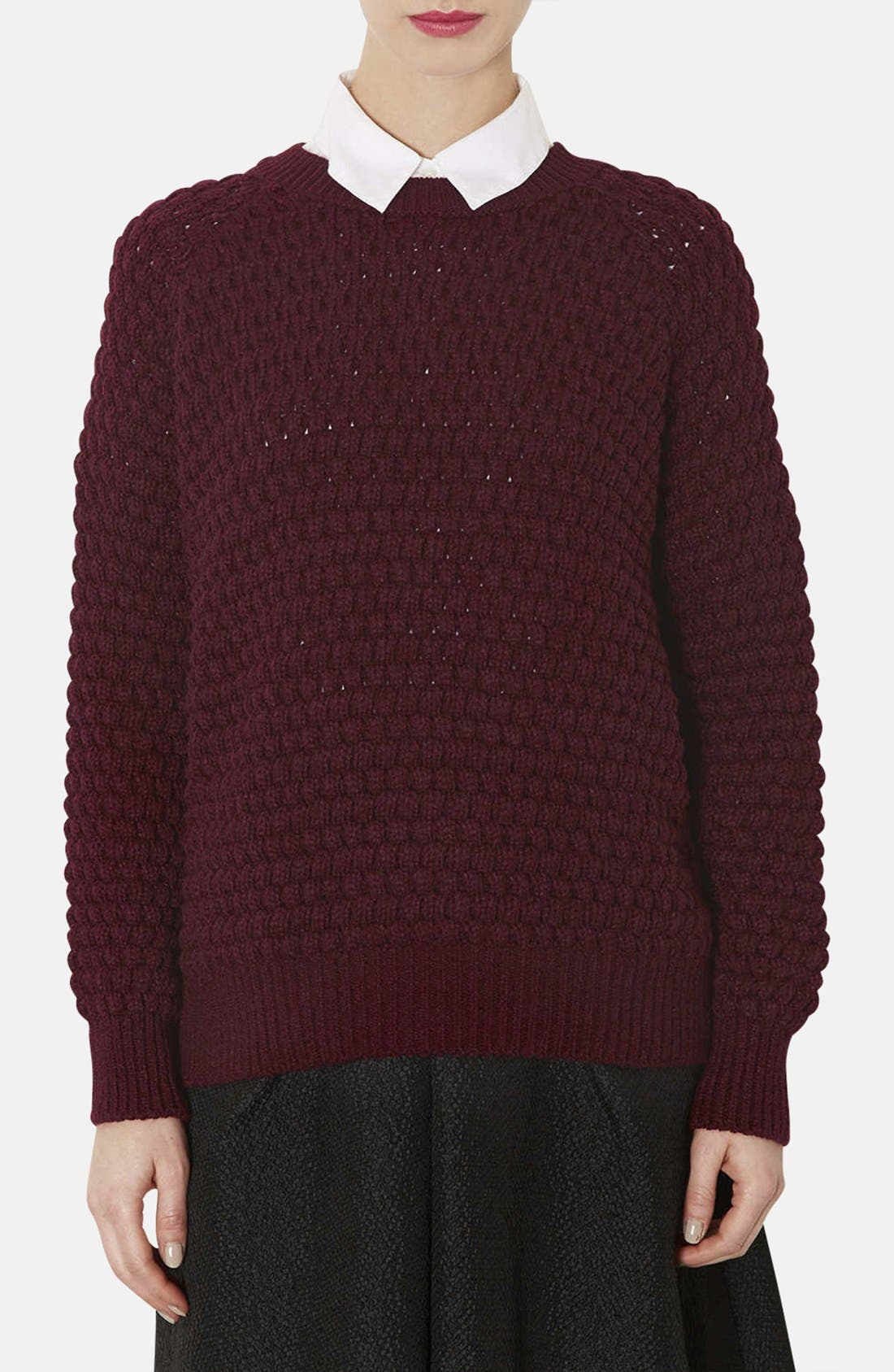 Main Image - Topshop Chunky Bobble Knit Sweater