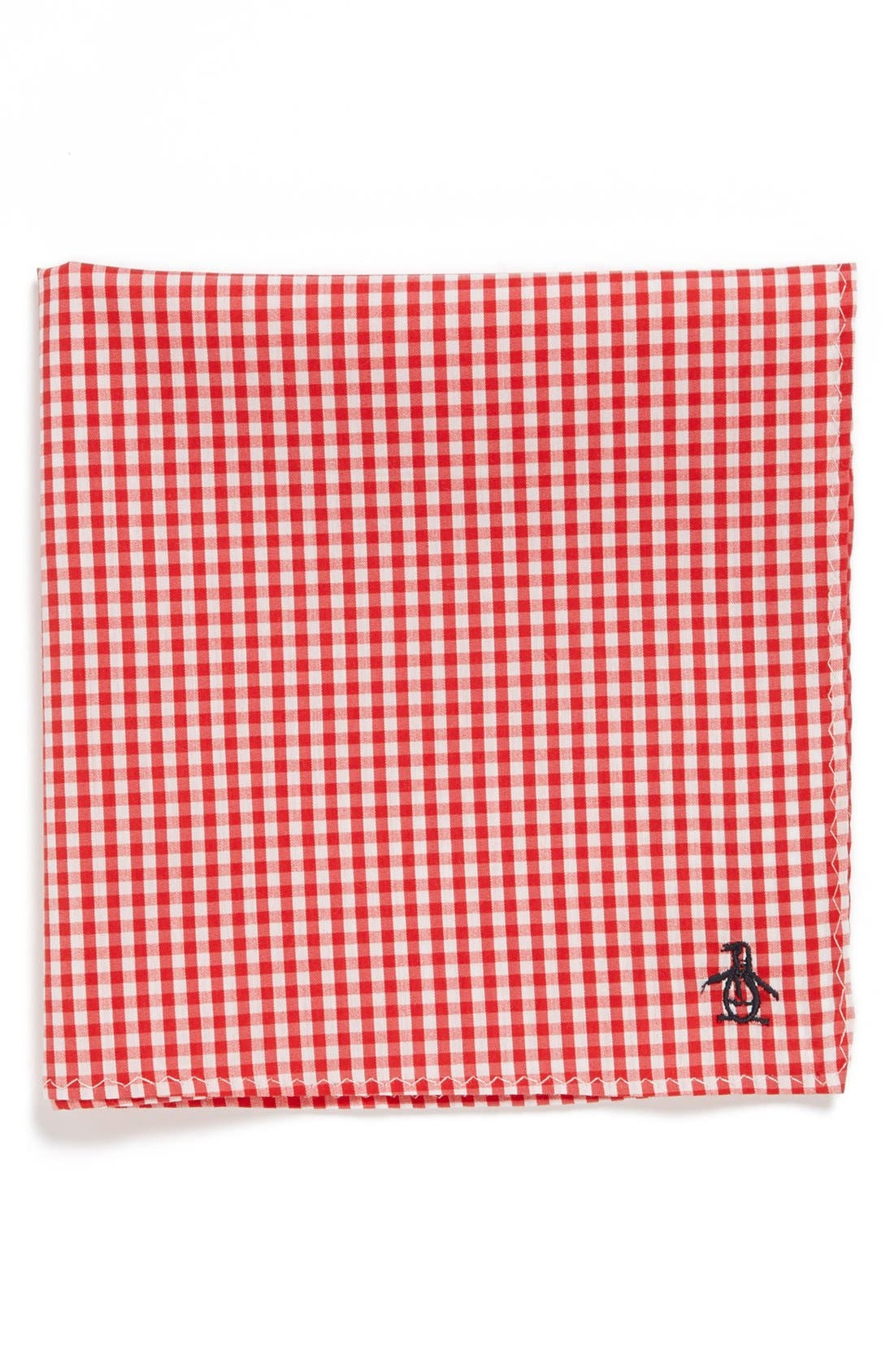 Main Image - Original Penguin 'Pace Mini Check' Cotton Pocket Square