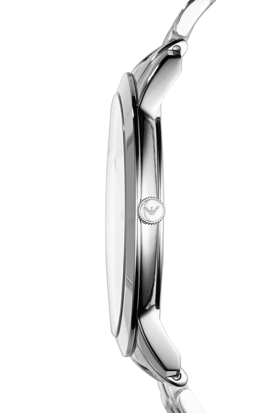 Alternate Image 3  - Emporio Armani Round Bracelet Watch, 42mm