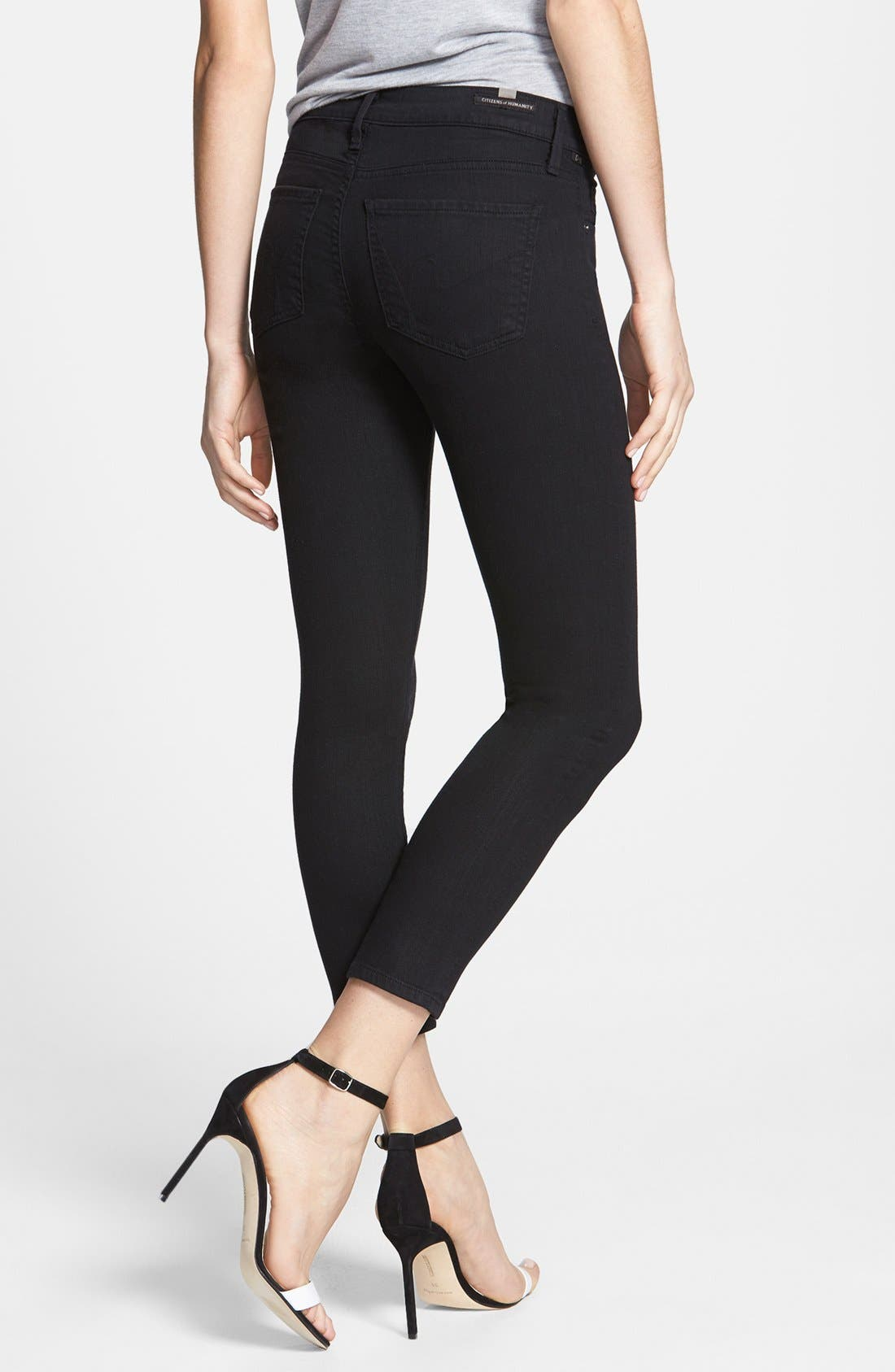 Alternate Image 2  - Citizens of Humanity Skinny Crop Jeans (Black Diamond)