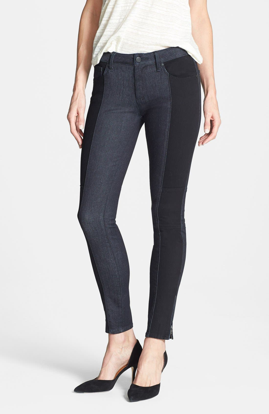 Main Image - MARC BY MARC JACOBS Seamed Stretch Crop Cigarette Leg Jeans
