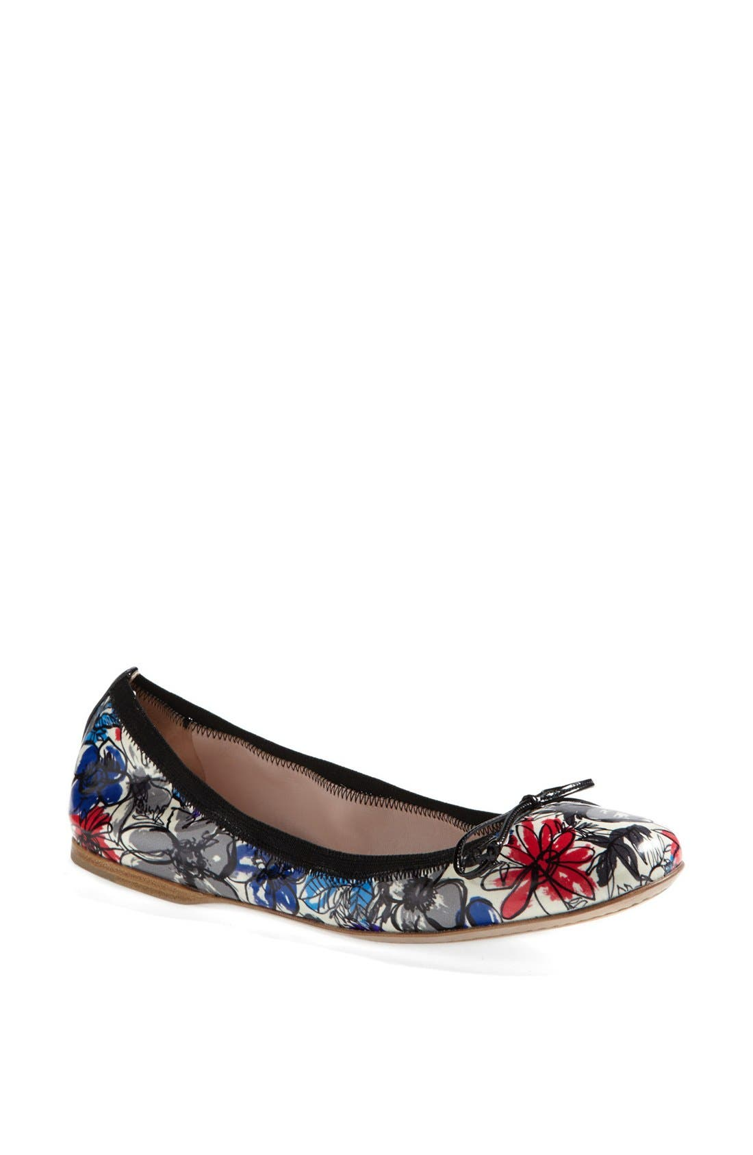 Alternate Image 1 Selected - Miu Miu Floral Ballet Flat