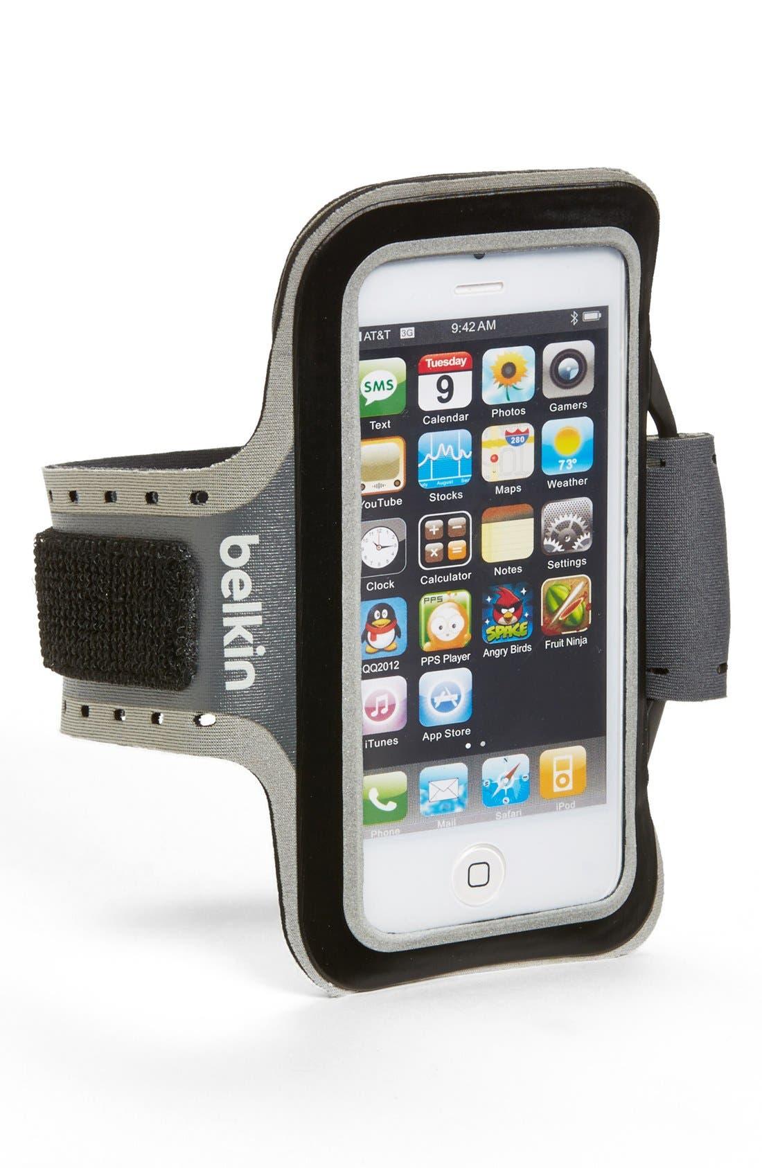 Alternate Image 1 Selected - Belkin Slim-Fit Plus iPhone 5 Armband