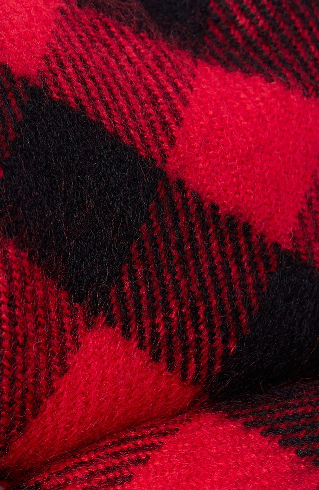 Alternate Image 2  - Topman Buffalo Check Knit Scarf