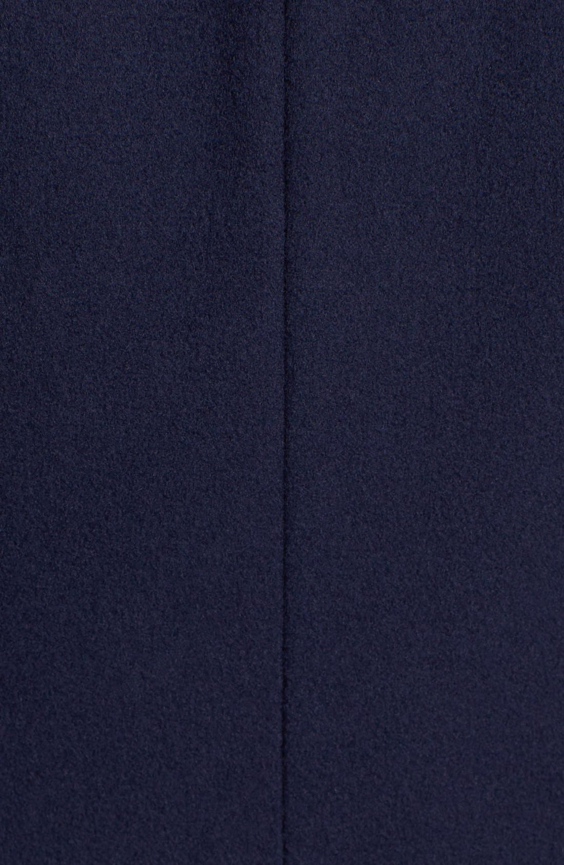 Alternate Image 3  - Trina Turk Lambswool & Cashmere Officer's Coat (Petite)