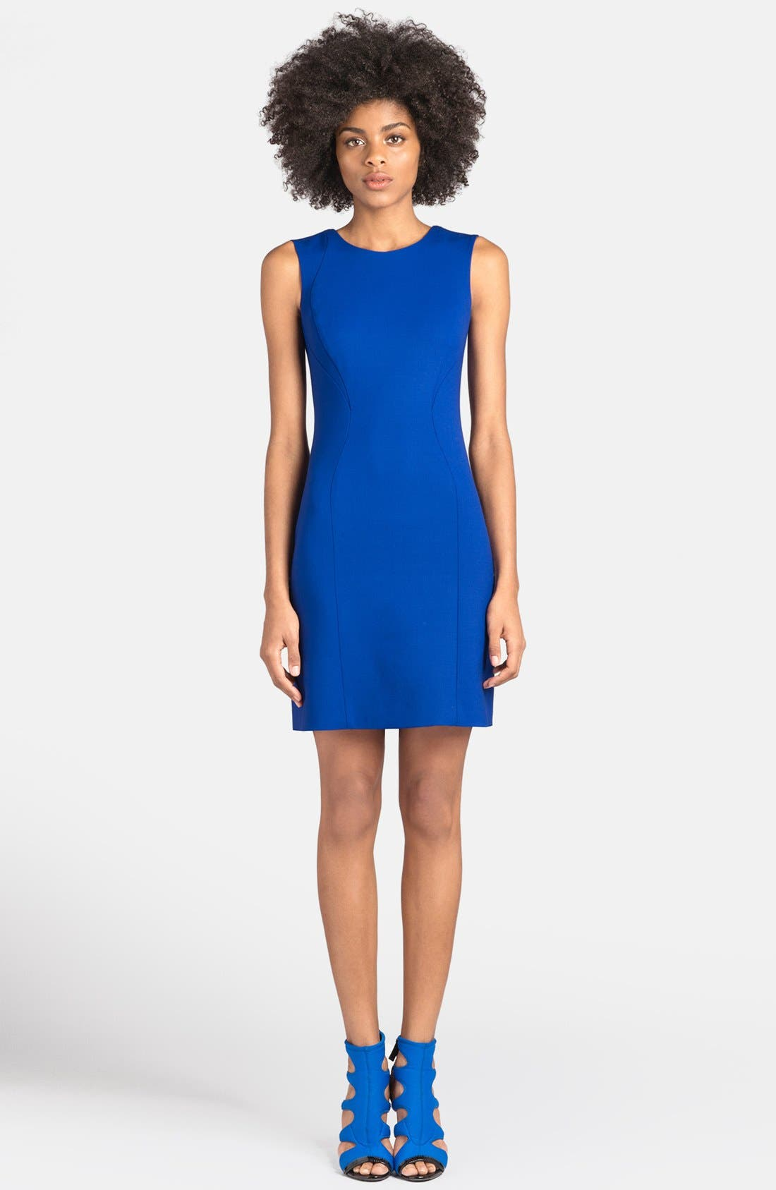 Alternate Image 1 Selected - Emilio Pucci Back Pleat Stretch Wool Dress