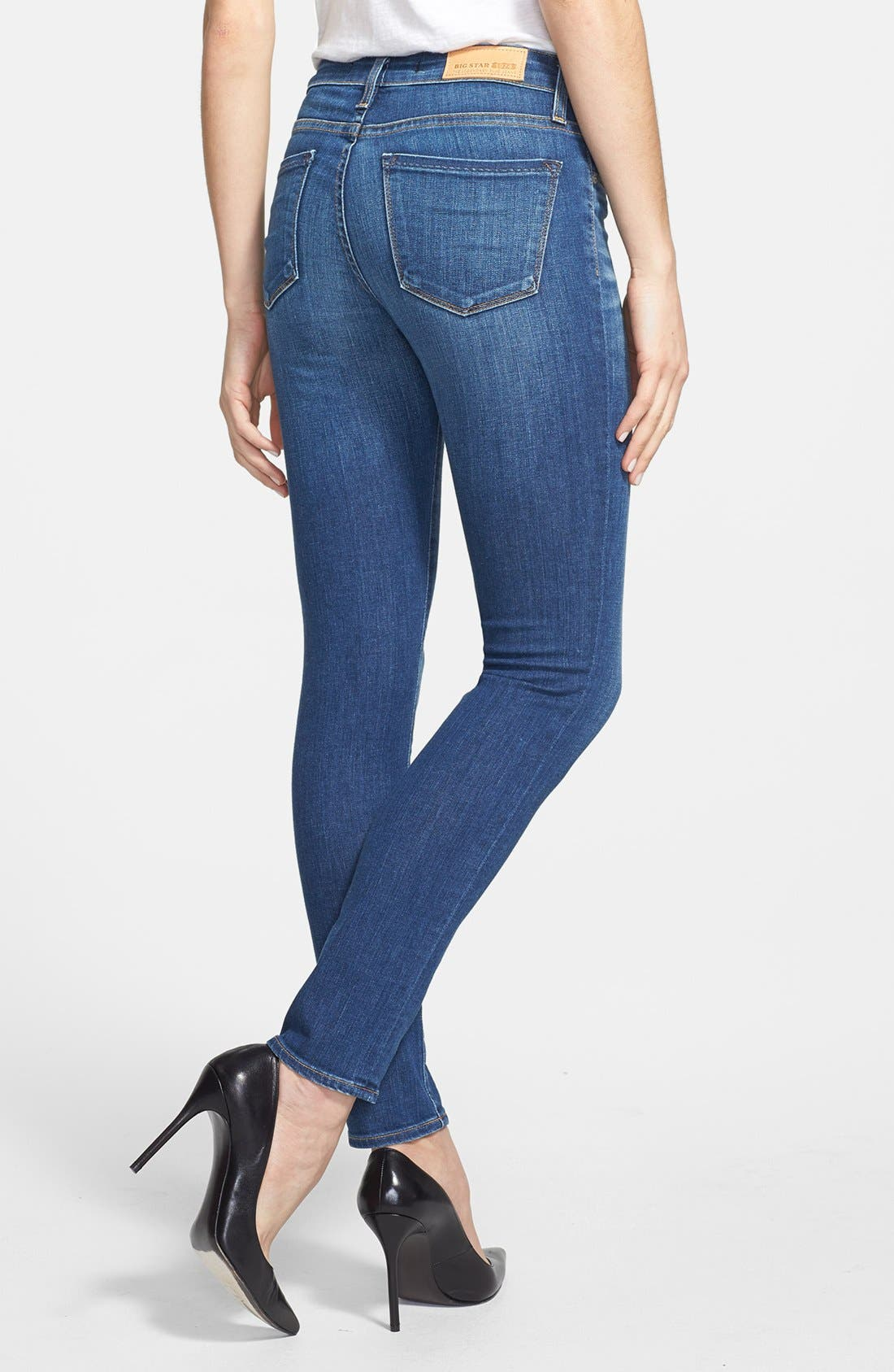 Alternate Image 2  - Big Star 'Alex' Stretch Skinny Jeans (Oxford) (Petite)