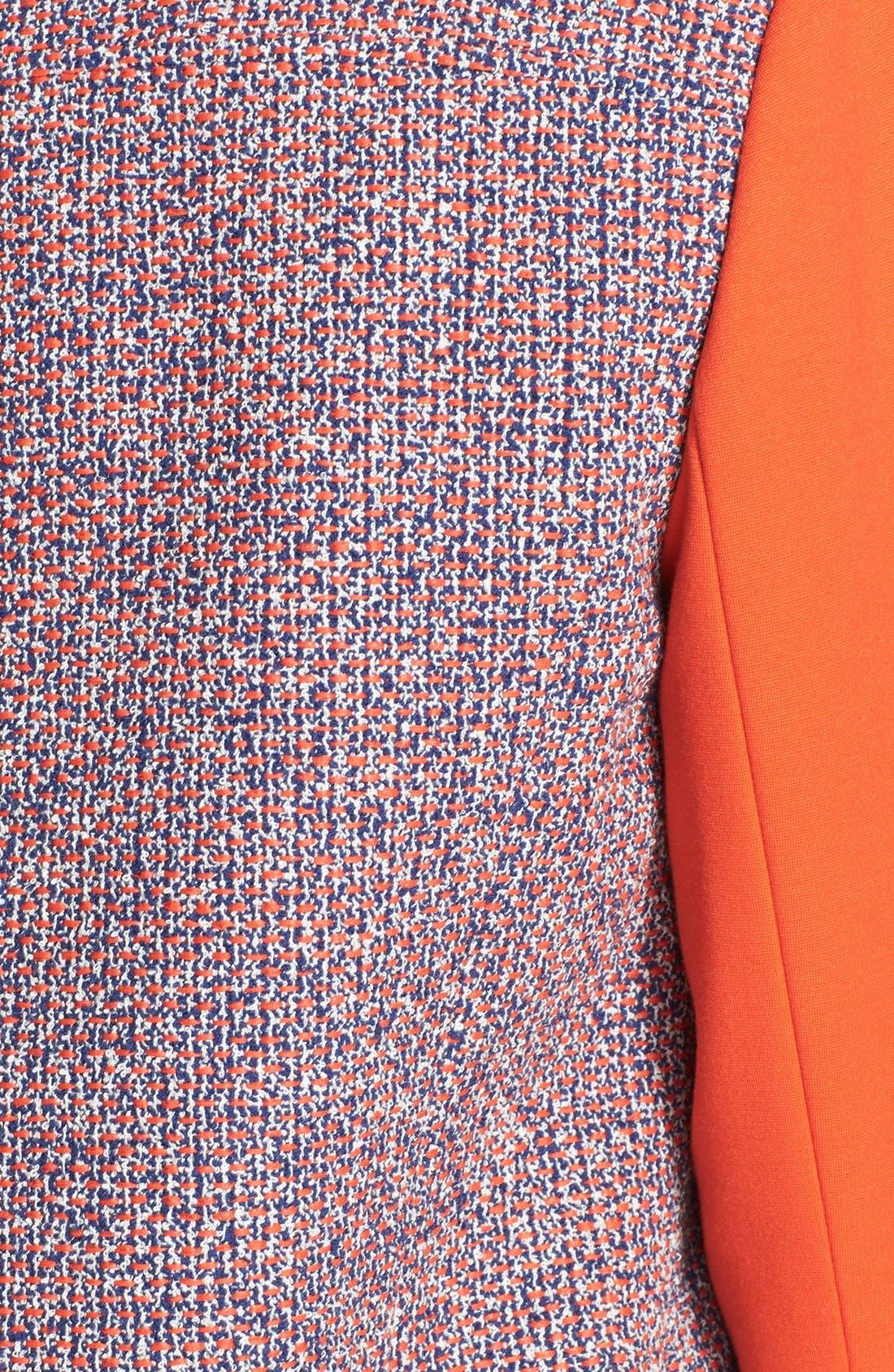 Alternate Image 3  - Classiques Entier® 'Carlotta' Tweed & Ponte Moto Jacket