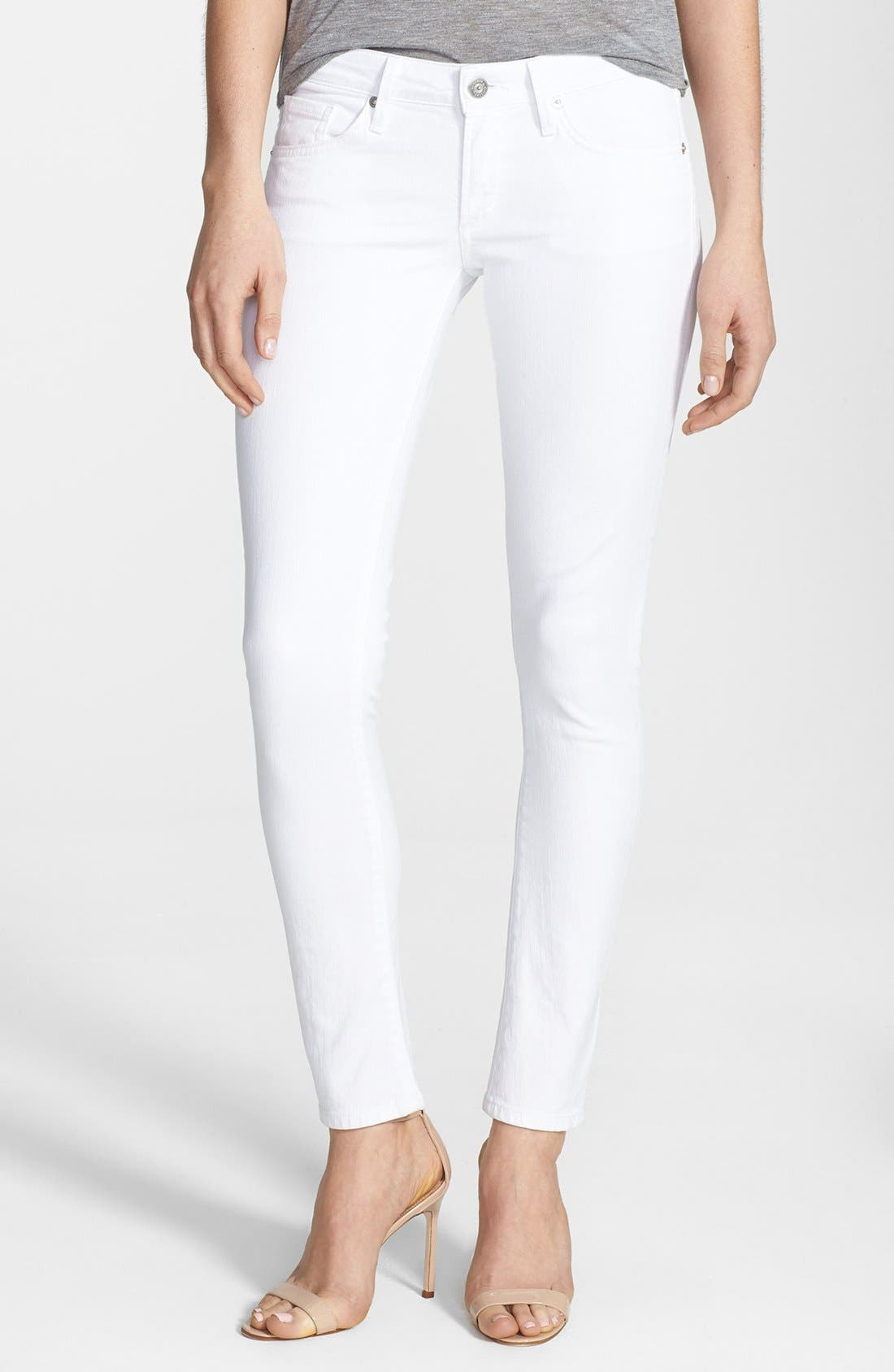 Main Image - Citizens of Humanity 'Racer' Low Rise Skinny Jeans (Santorini White)