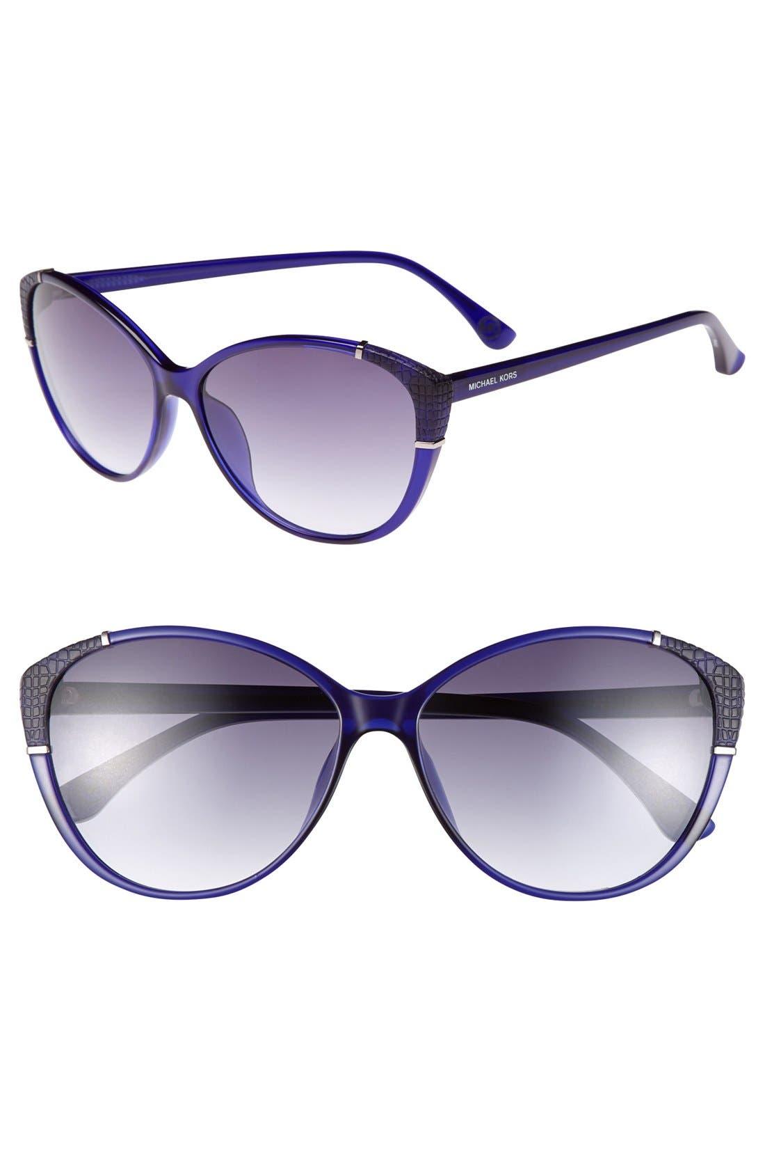 Alternate Image 1 Selected - MICHAEL Michael Kors 'Paige' 58mm Sunglasses