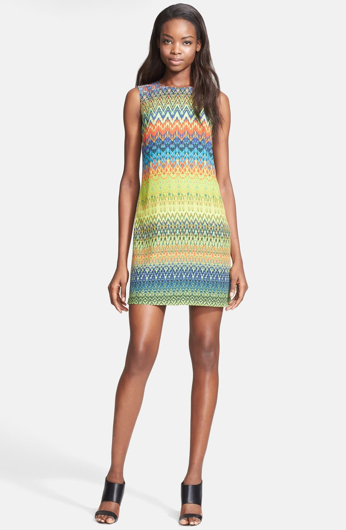 Main Image - M Missoni Print Silk Shift Dress