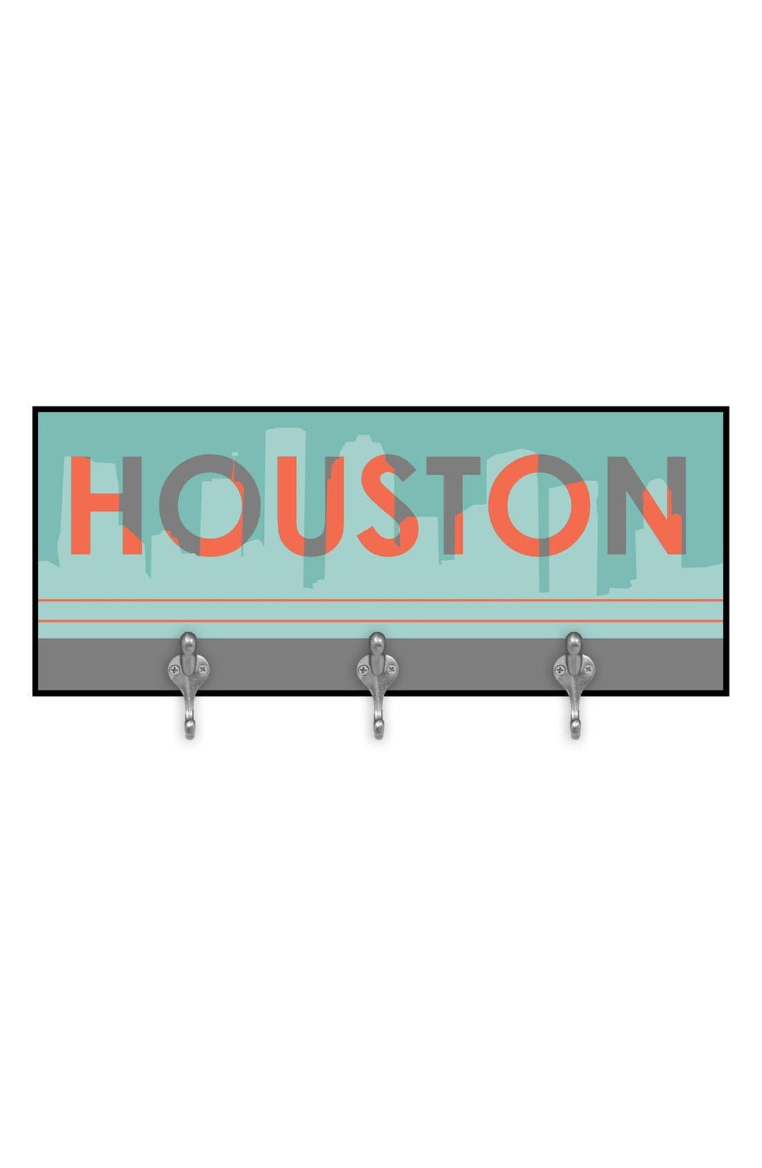 Main Image - Green Leaf Art 'Houston Skyline' Decorative Wall Hooks