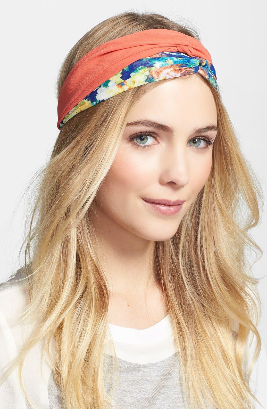 Alternate Image 1 Selected - Cara Floral Print Head Wrap