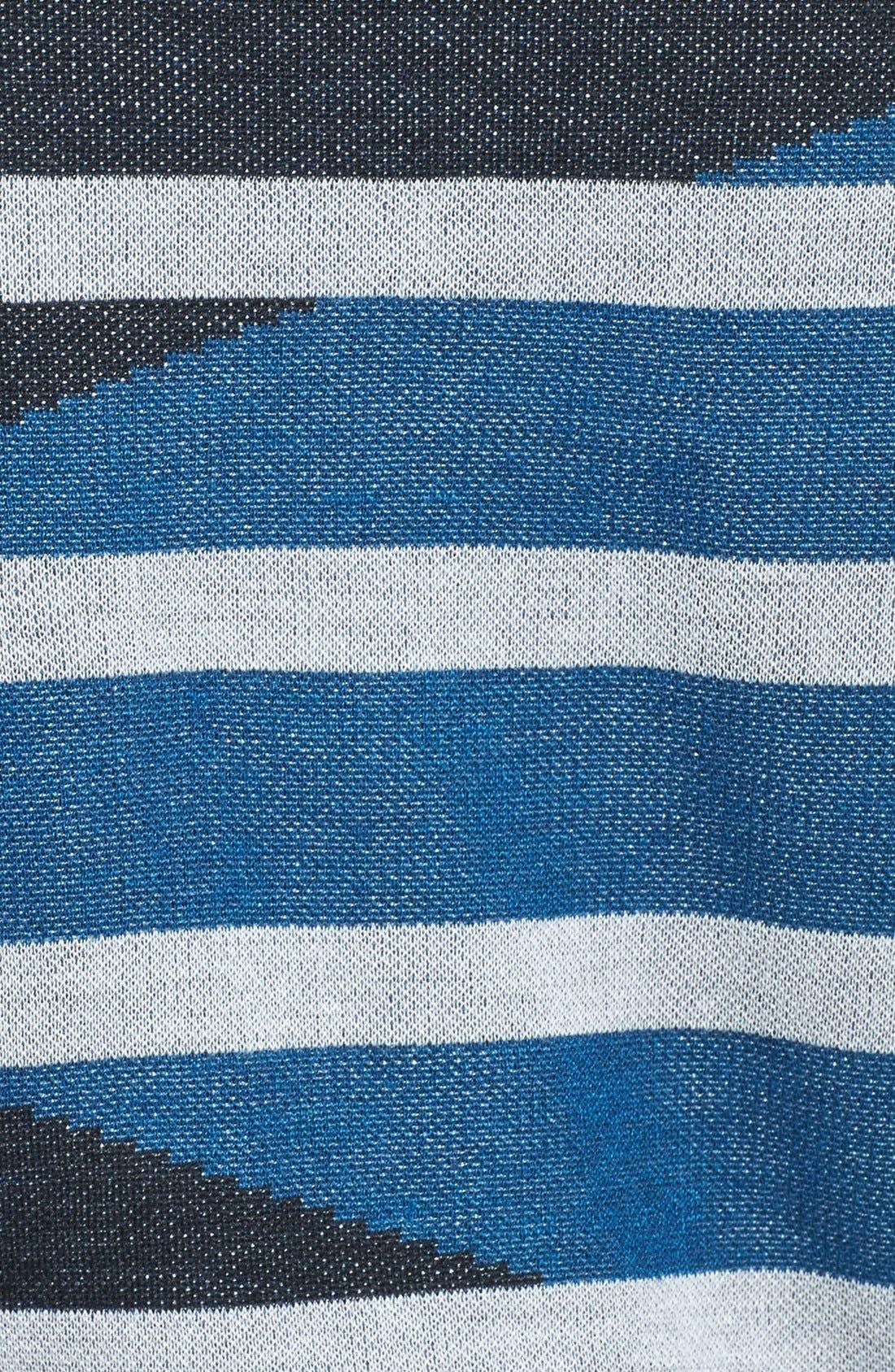 Alternate Image 3  - Adrianna Papell Intarsia Stripe Boatneck Sweater